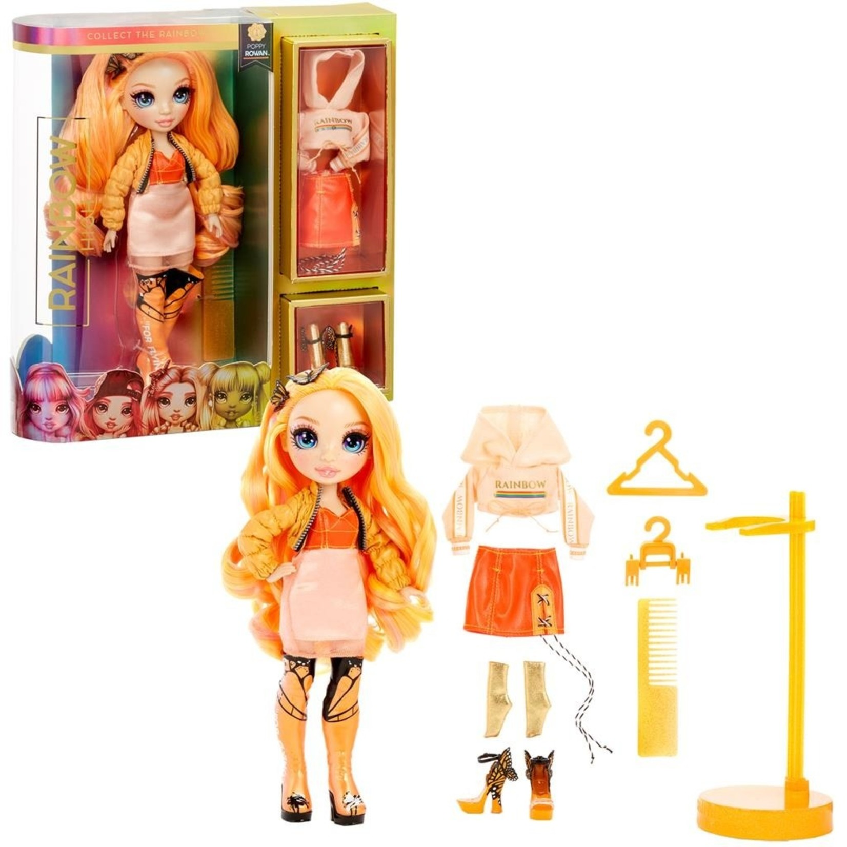 MGA Entertainment Rainbow High Doll Poppy Rowan