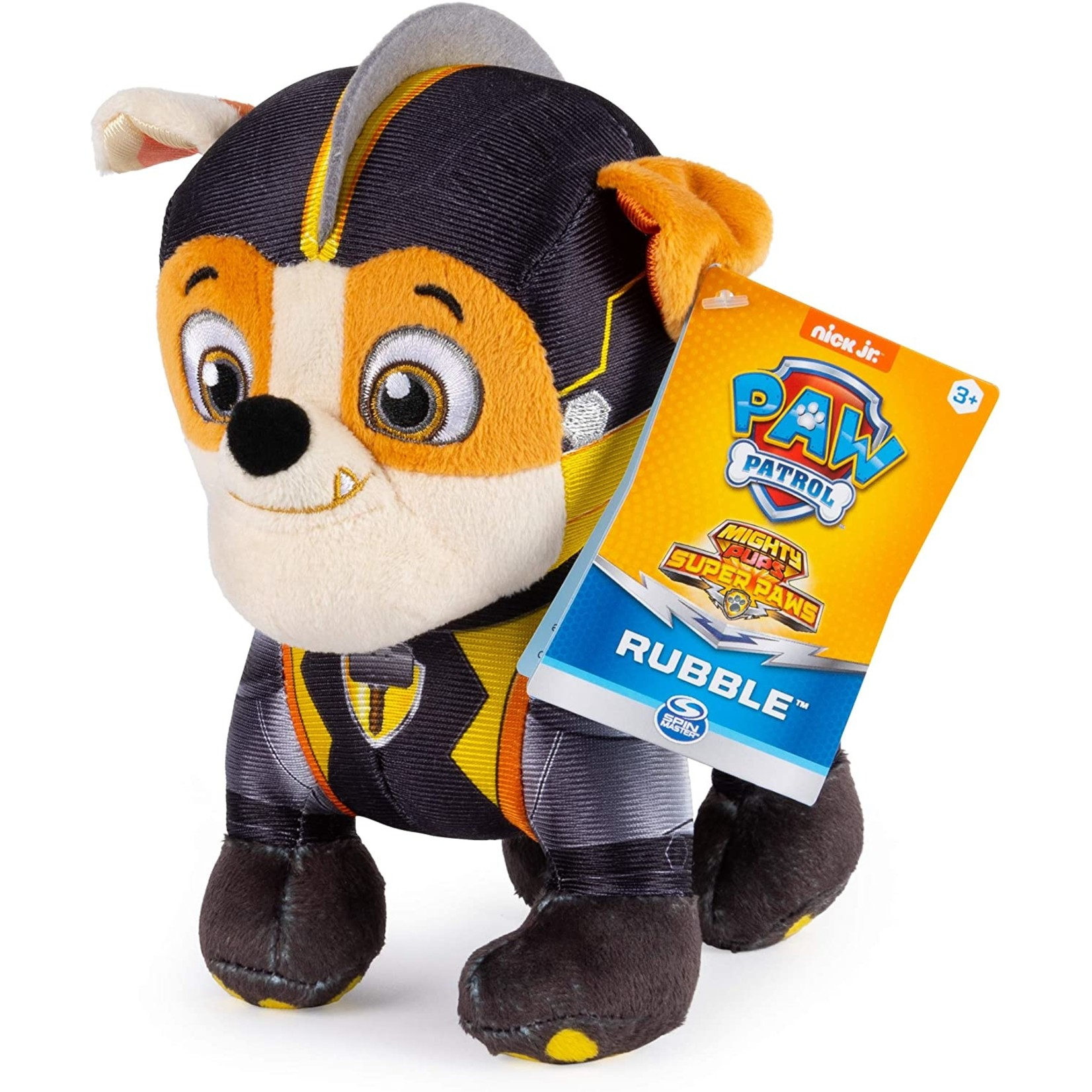 Spin Master Paw Patrol Knuffel Mighty Pup Rubble 20 cm