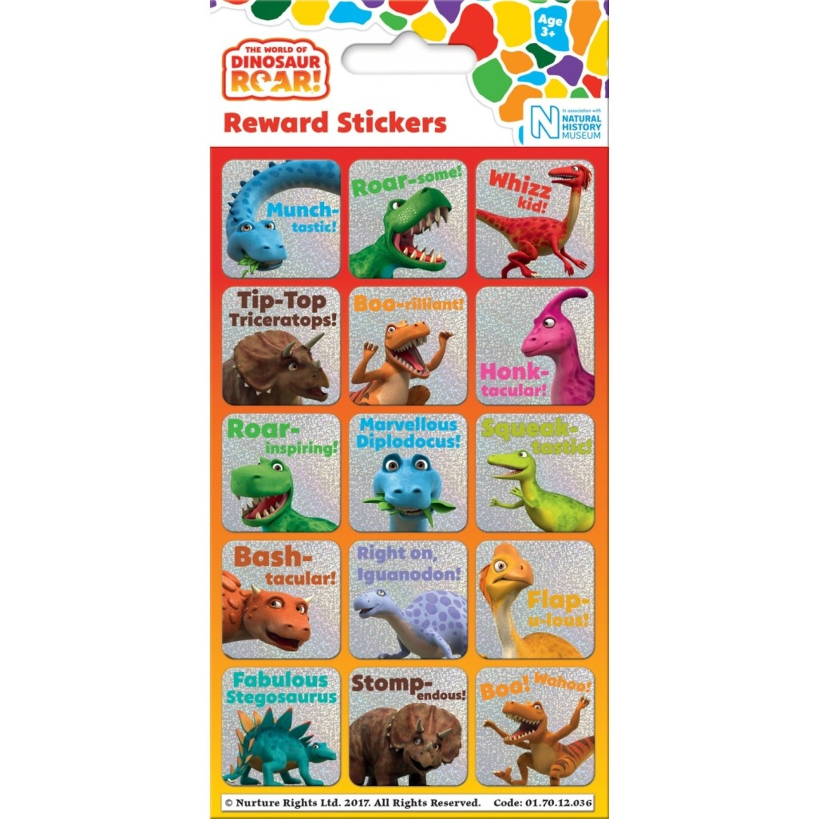 Paper Projects Dino Beloningsstickers