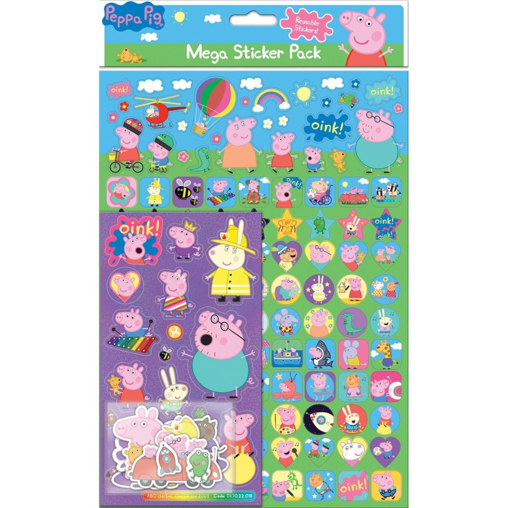 Paper Projects Peppa Pig Sticker Pack