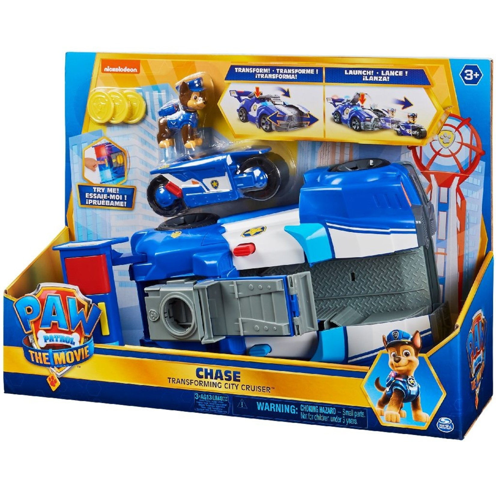 Spin Master Paw Patrol The Movie Chase's Deluxe Stadsvoertuig