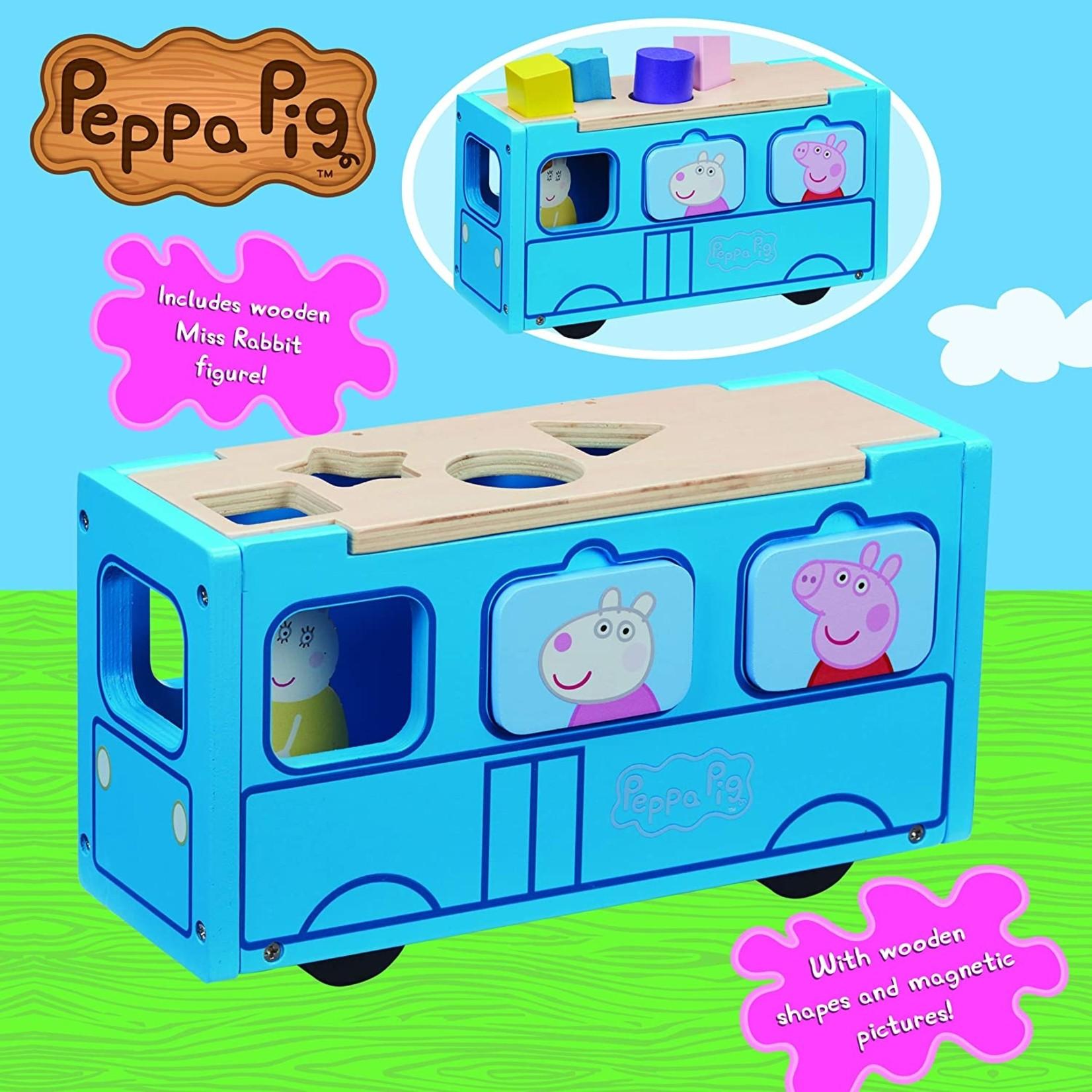 Peppa Pig's Houten Schoolbus