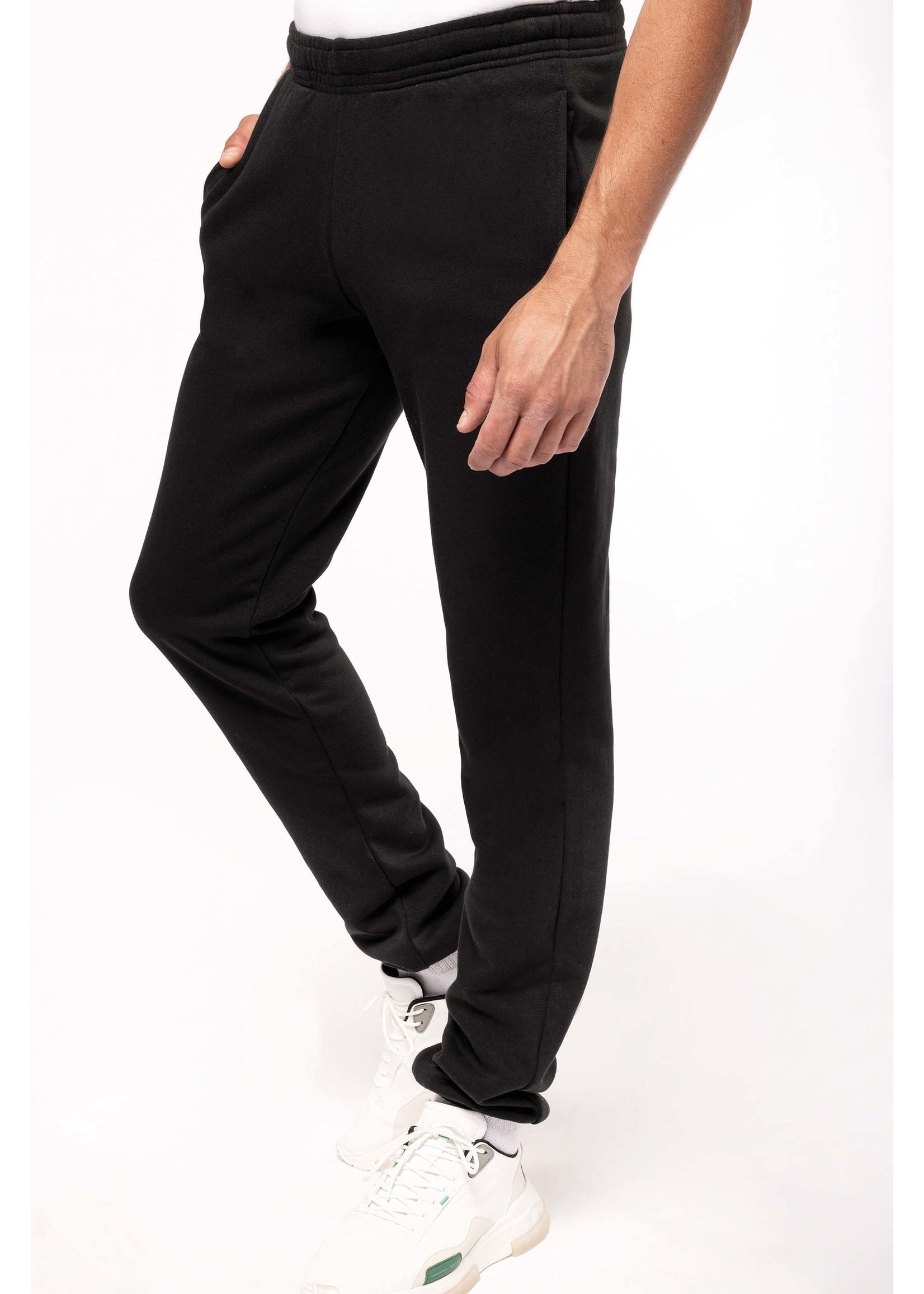 Ecologische uni broek van fleece zwart