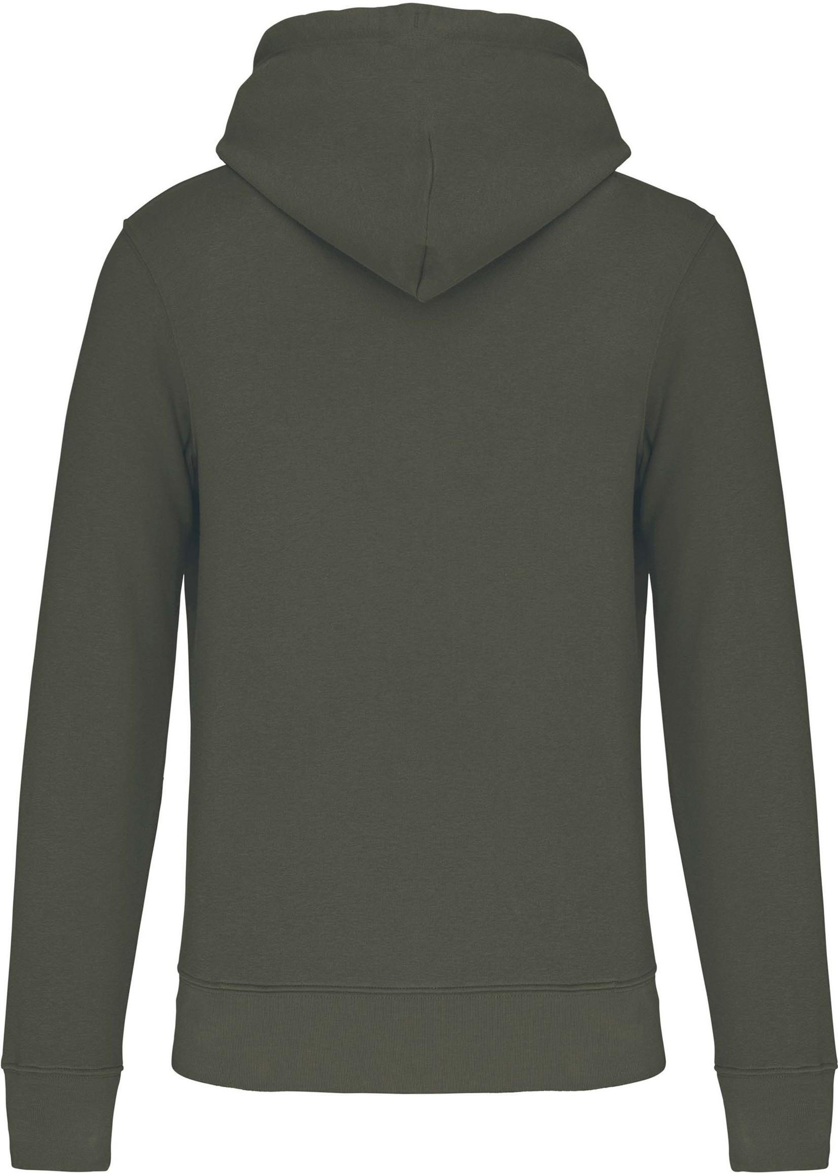 Eco-Friendly Hoodie Uni Dark Khaki