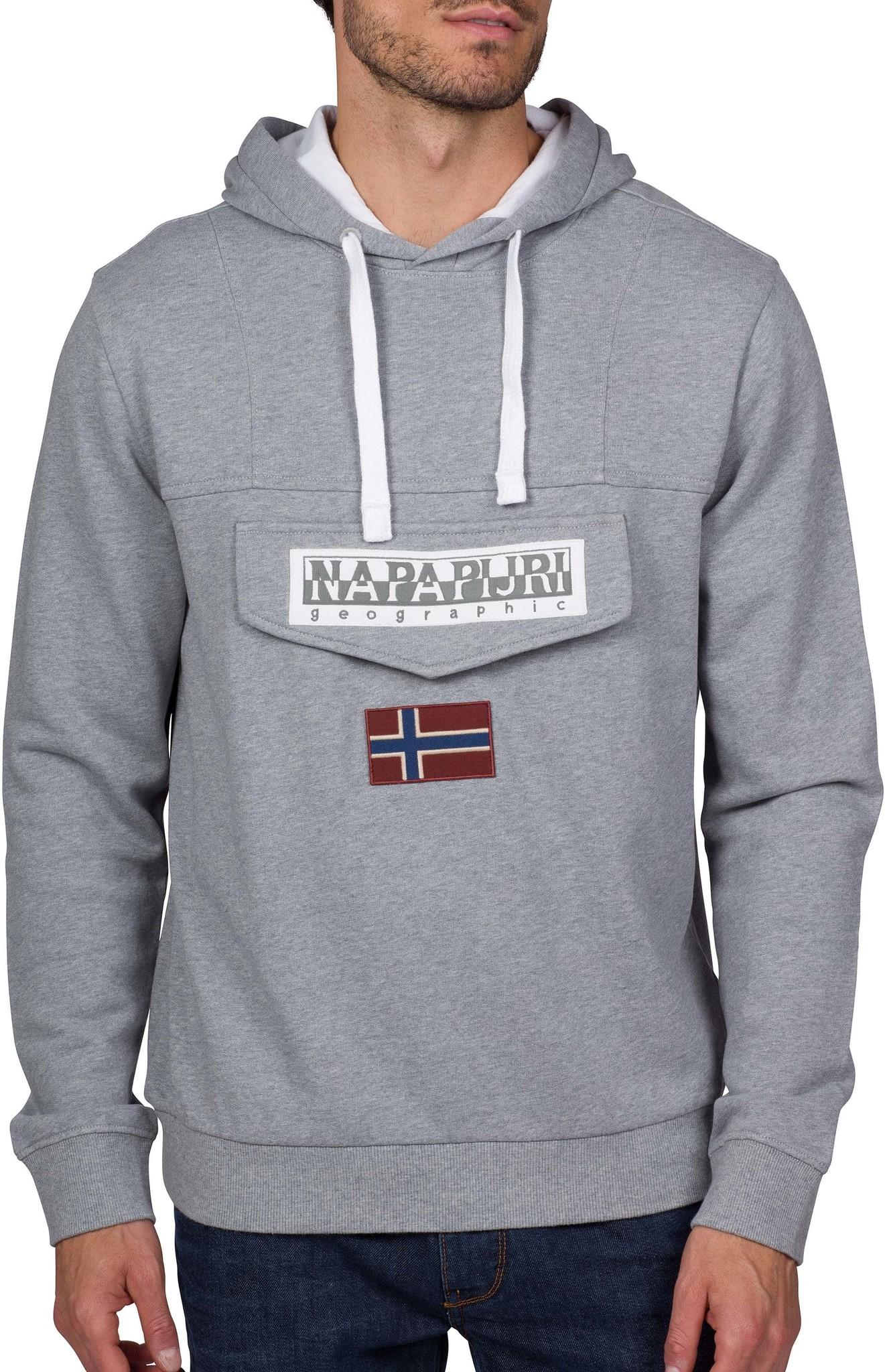 Burgee SUM 3 sweater met capuchon Grey-Melange