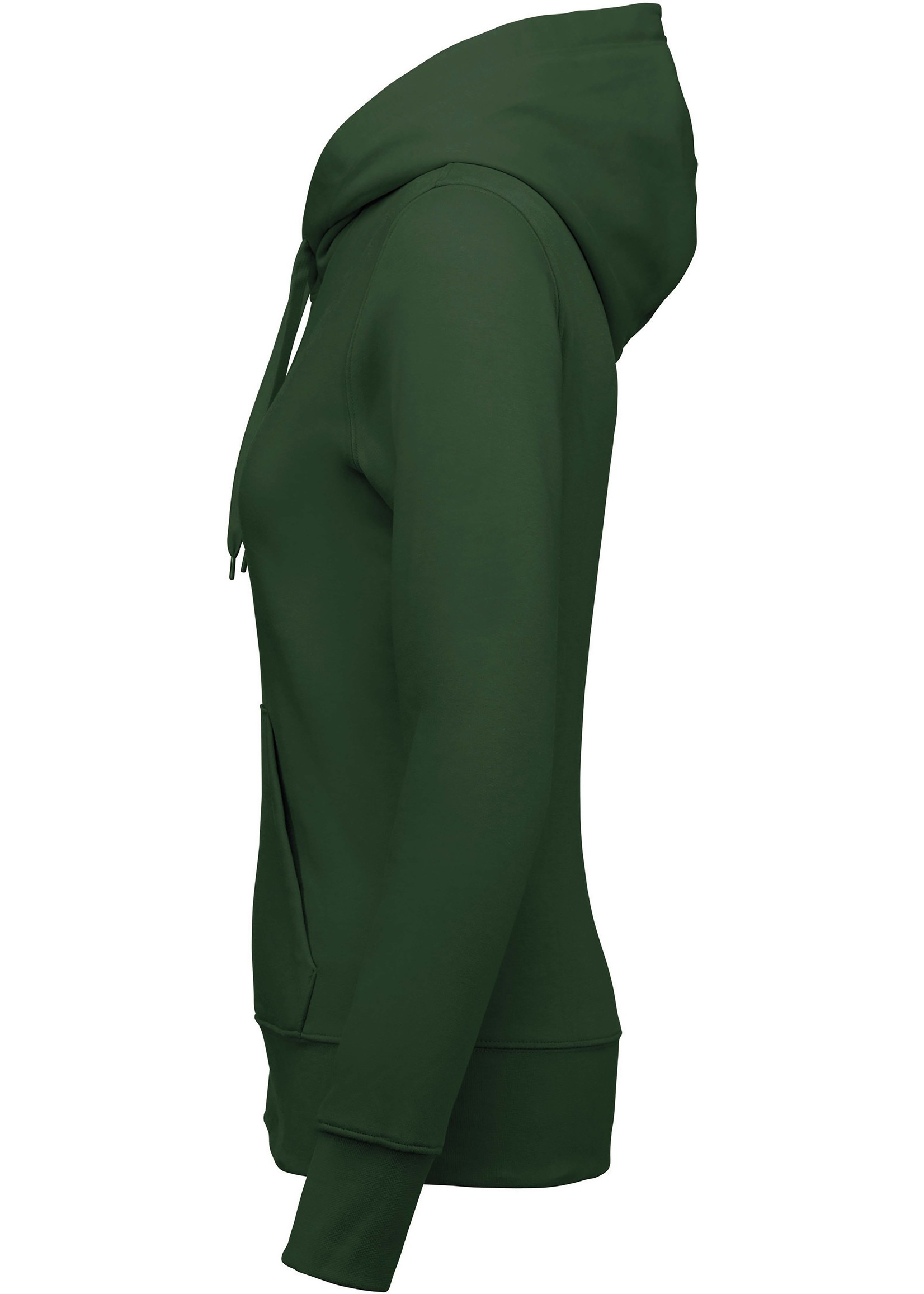 Eco-Friendly hoodie Dames Forest-Green