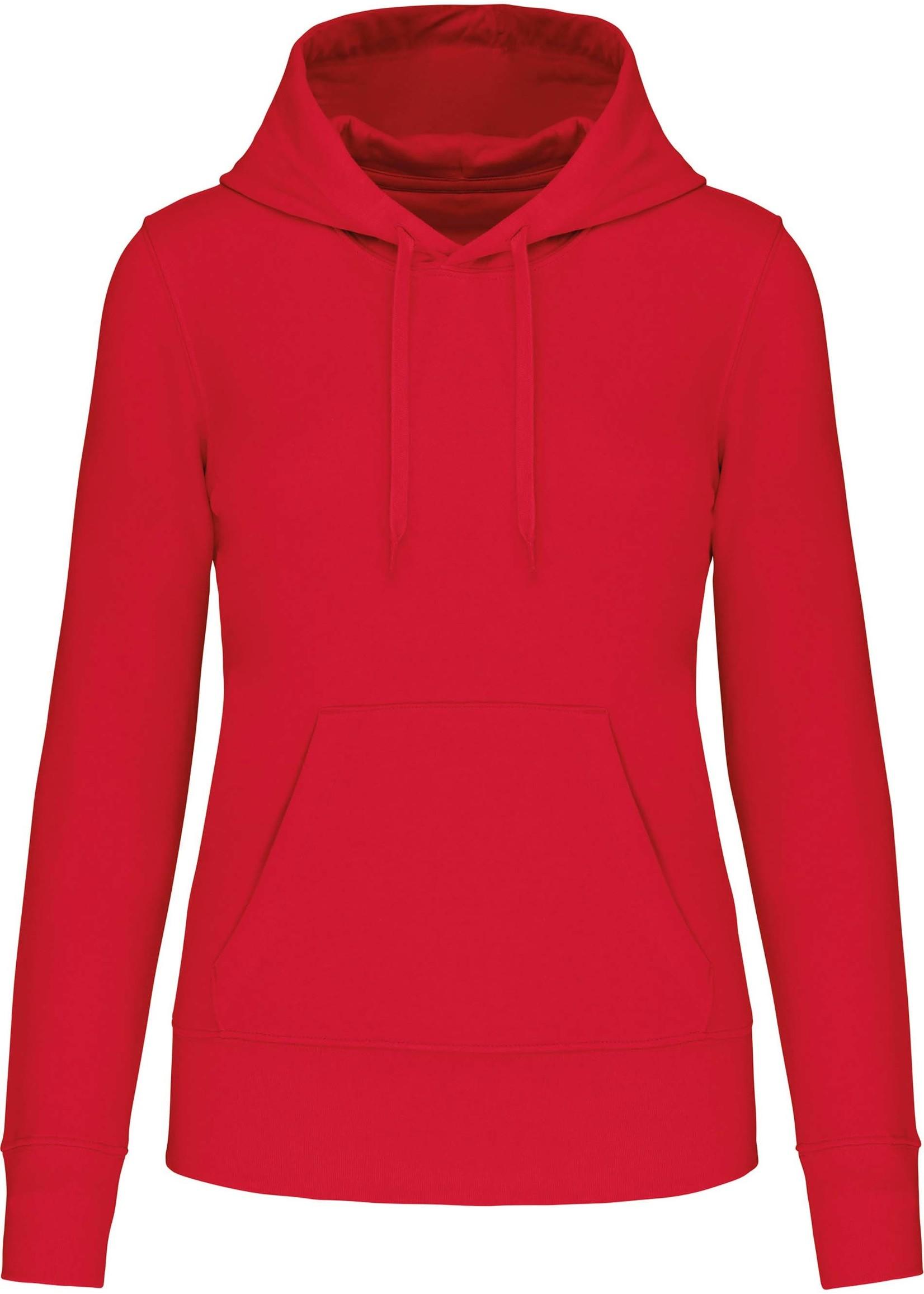 Eco-Friendly hoodie Dames Red