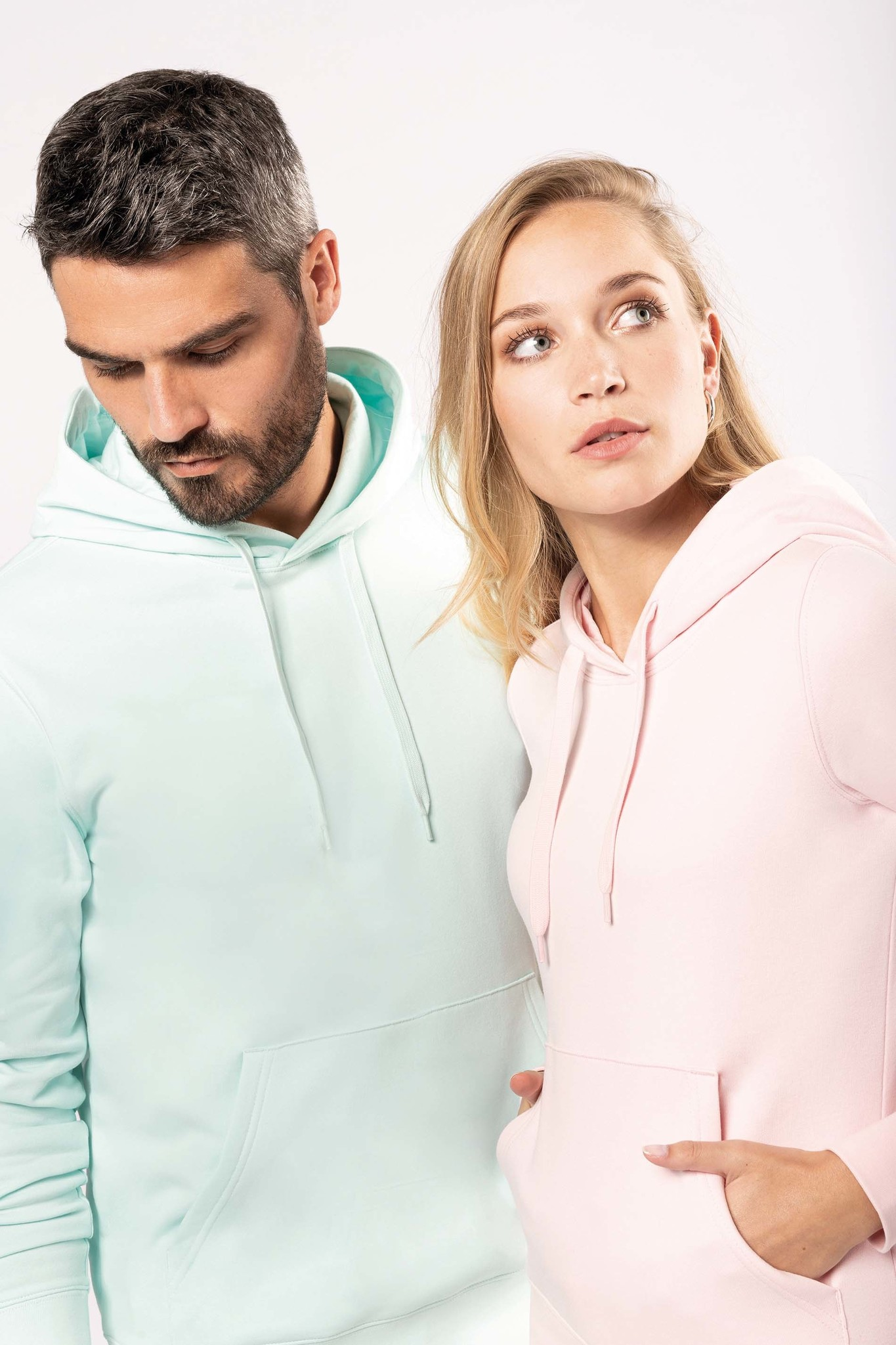Eco-Friendly hoodie Dames White