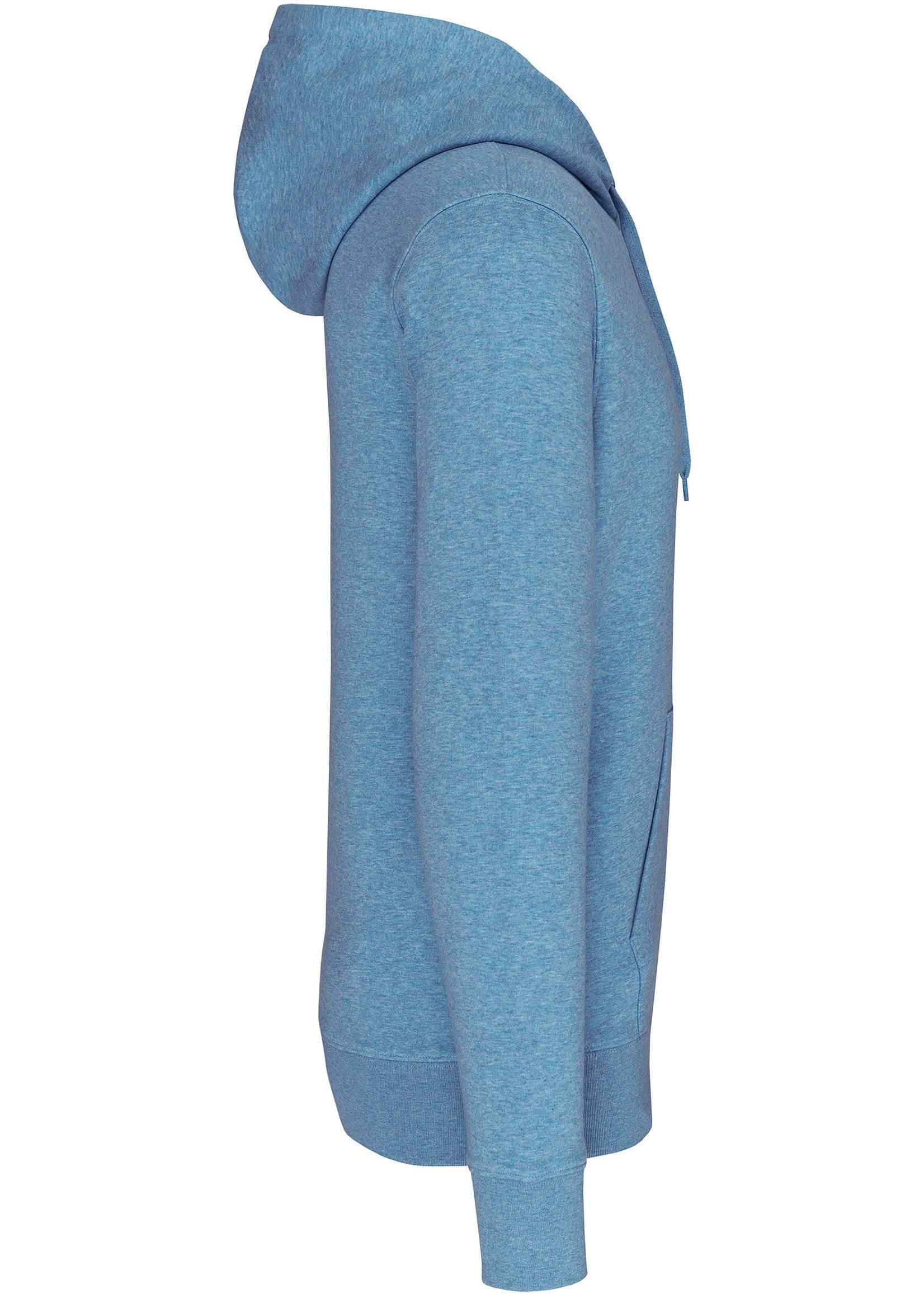 Eco-Friendly Hoodie Uni Cloudly blue-Gemêleerd