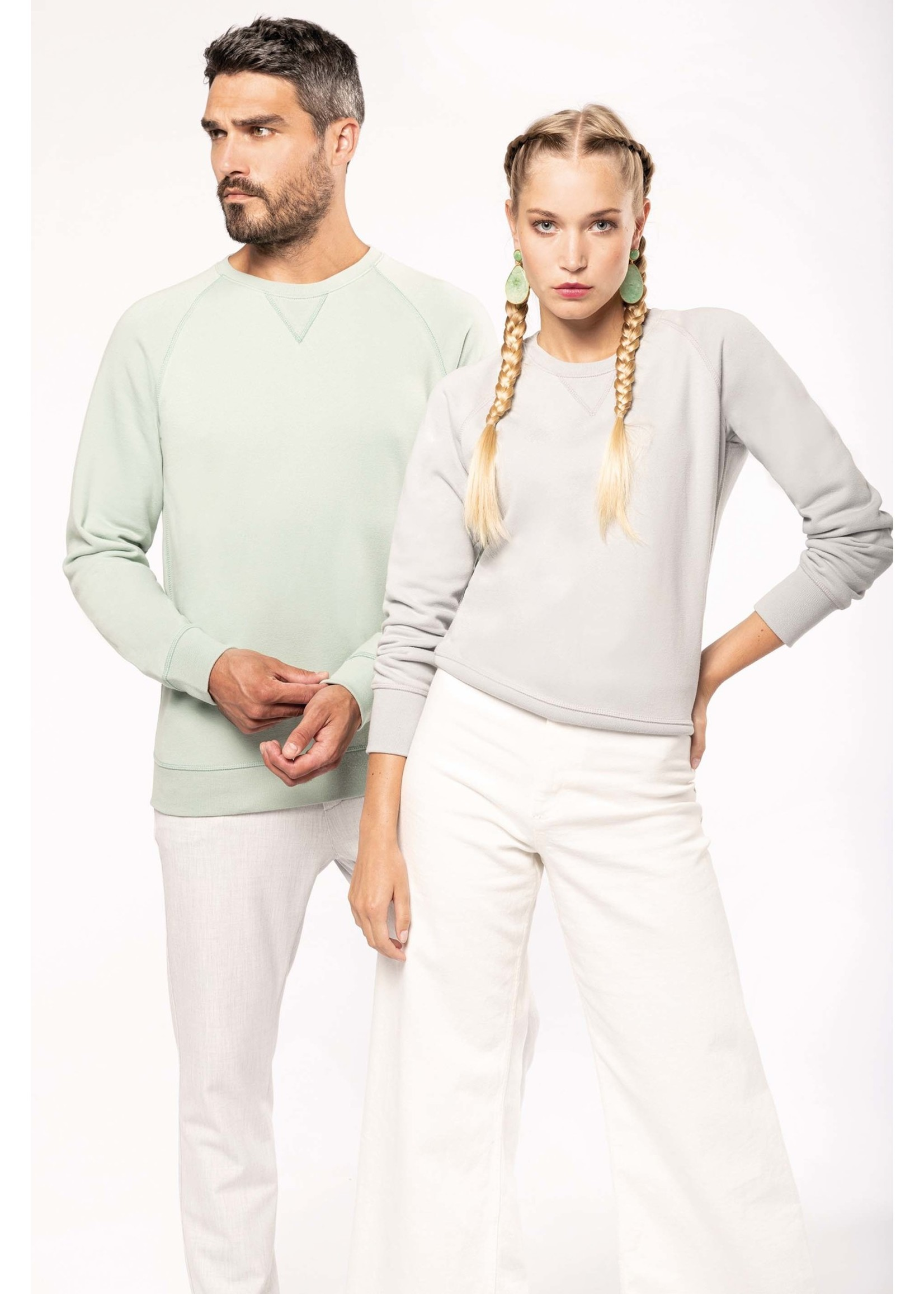 Eco-Friendly Sweater Dames French-Navy Gemêleerd