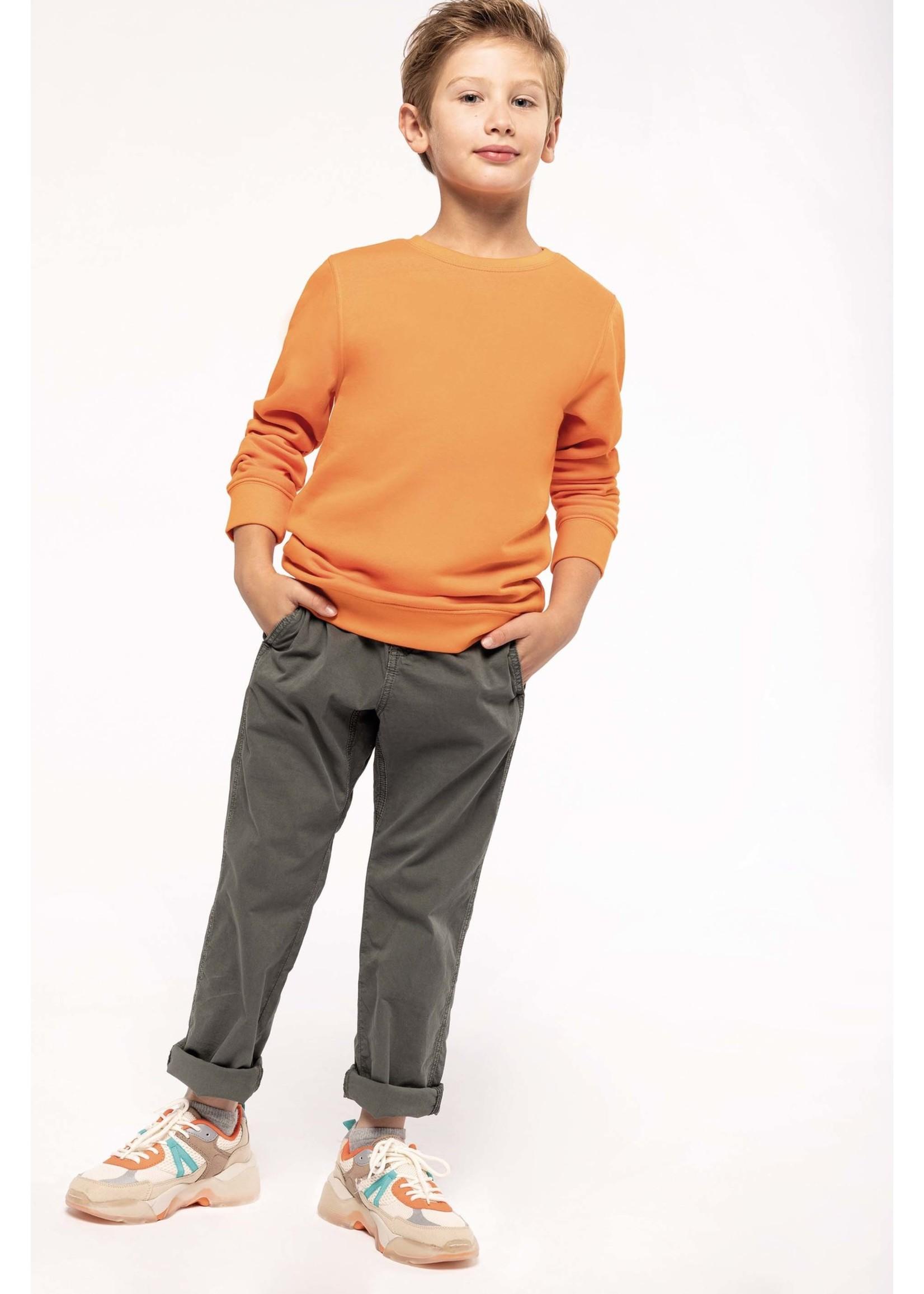 Eco-Friendly Crew Neck Sweater Kids-Dark Grey