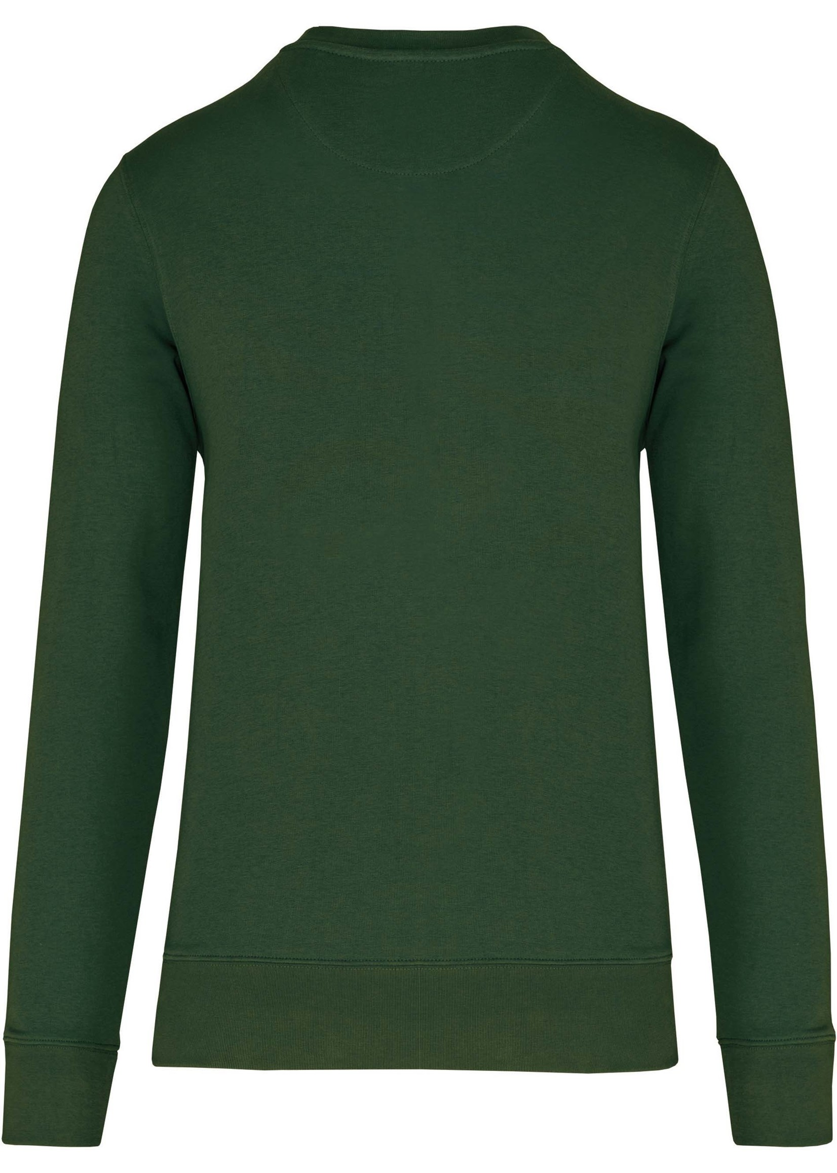 Eco-Friendly Crew Neck Sweater Kids-Forest Green