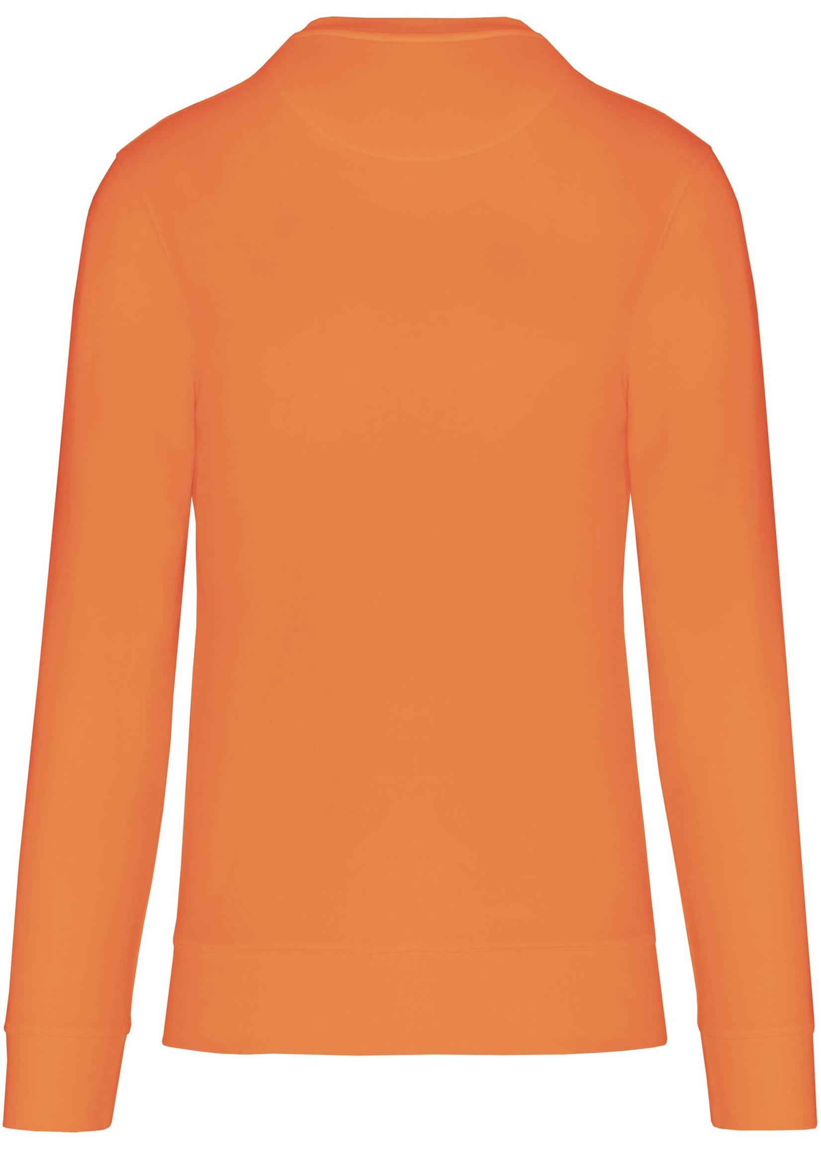 Eco-Friendly Crew Neck Sweater Kids-Light Orange