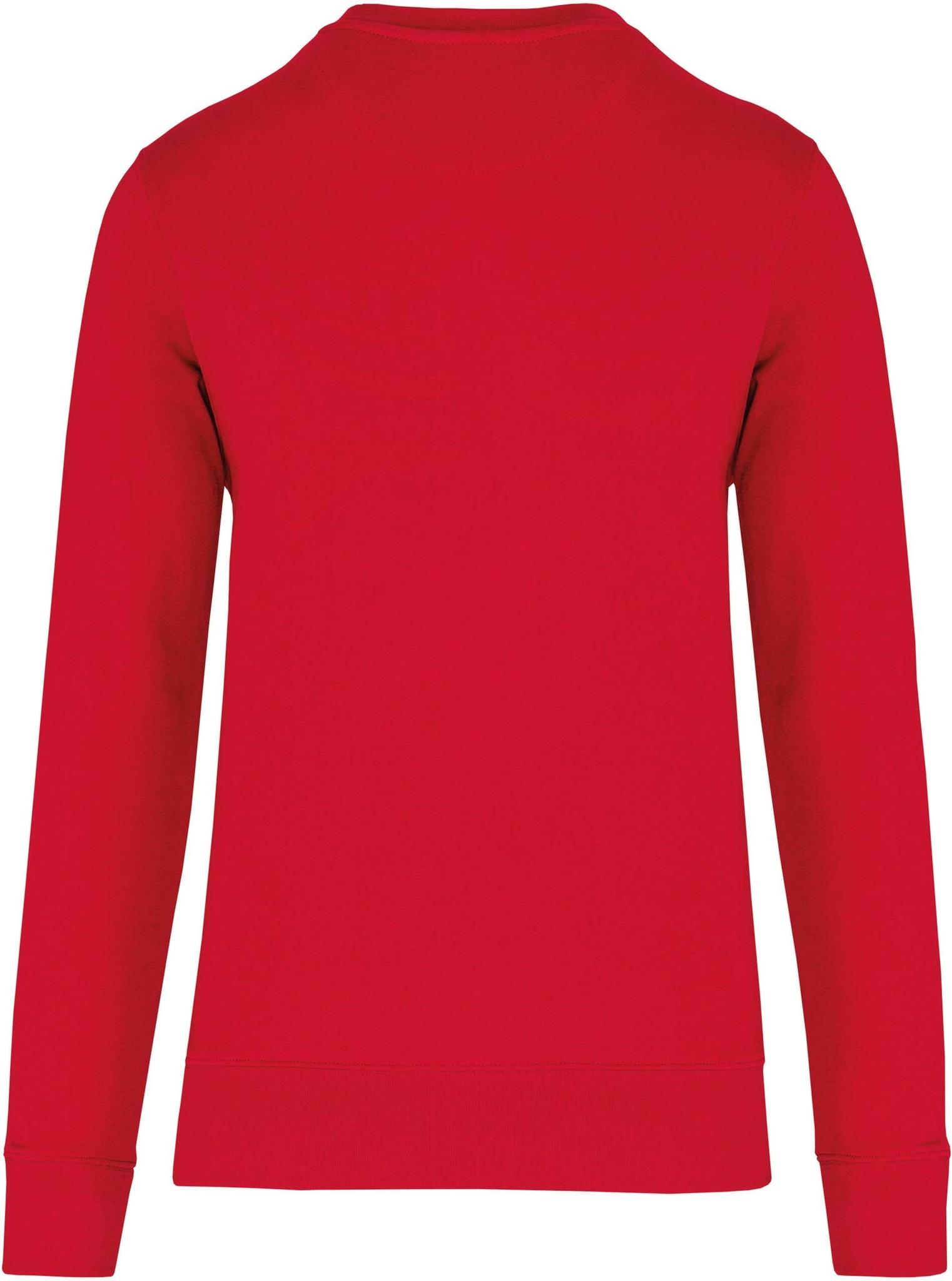 Eco-Friendly Crew Neck Sweater Kids-Red