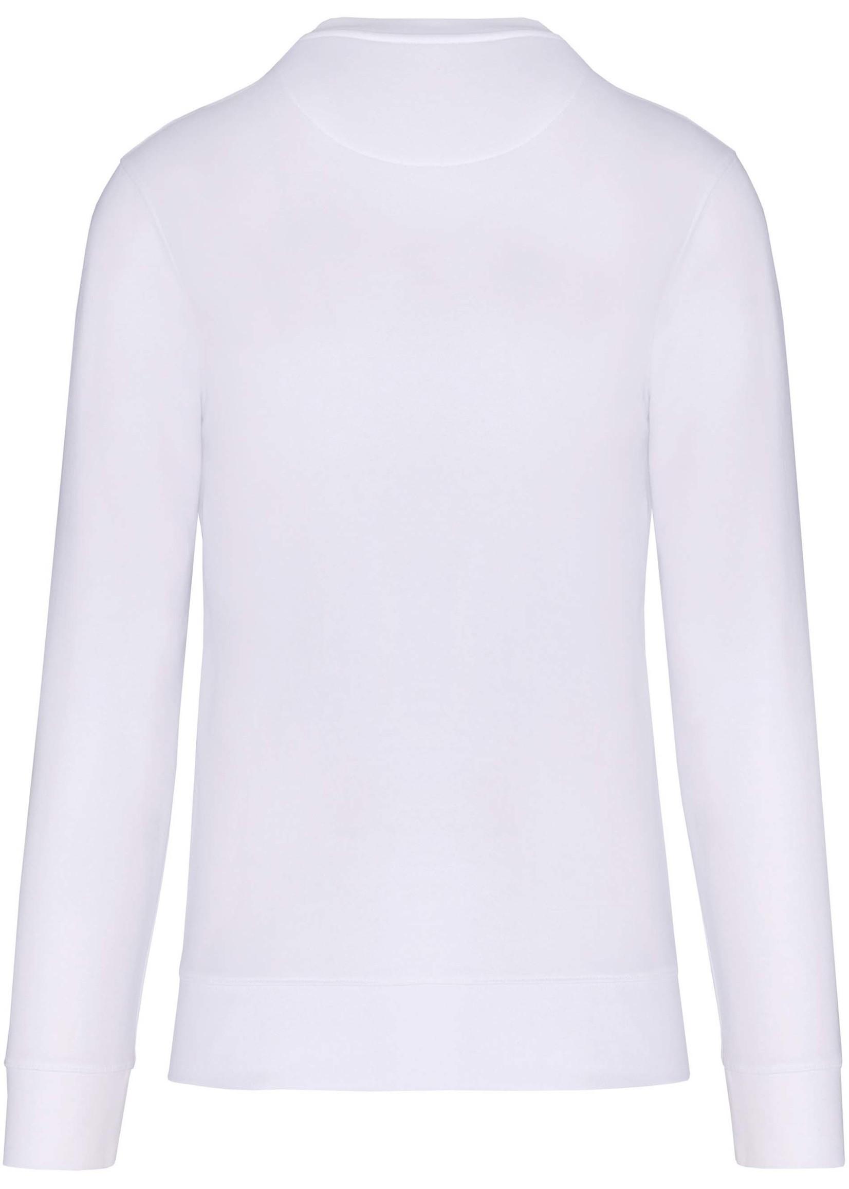 Eco-Friendly Crew Neck Sweater Kids-White