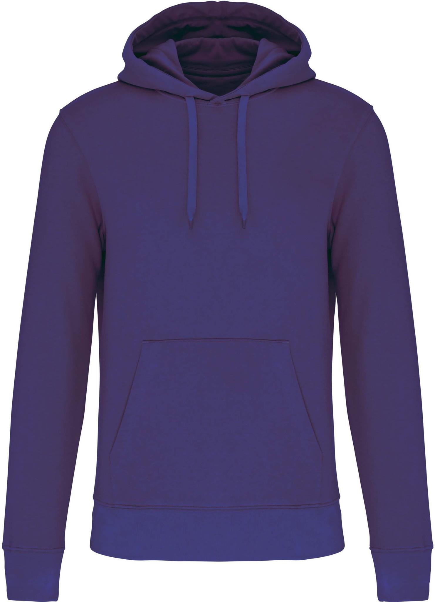 Eco-Friendly Hoodie Uni Deep-Purple