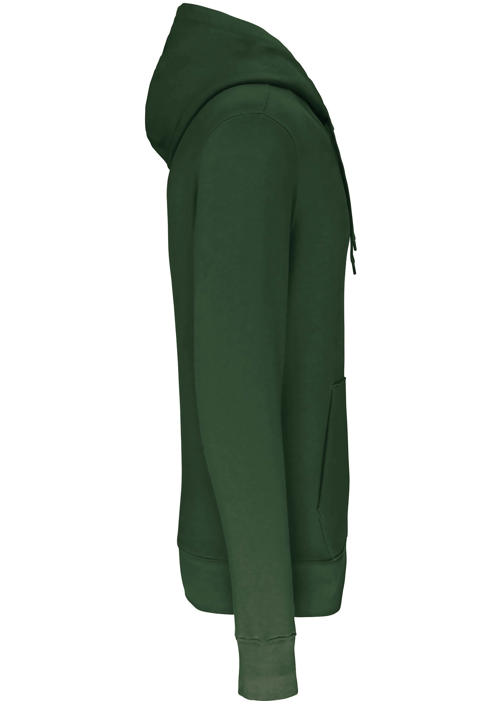 Eco-Friendly Hoodie Uni Forest-Green