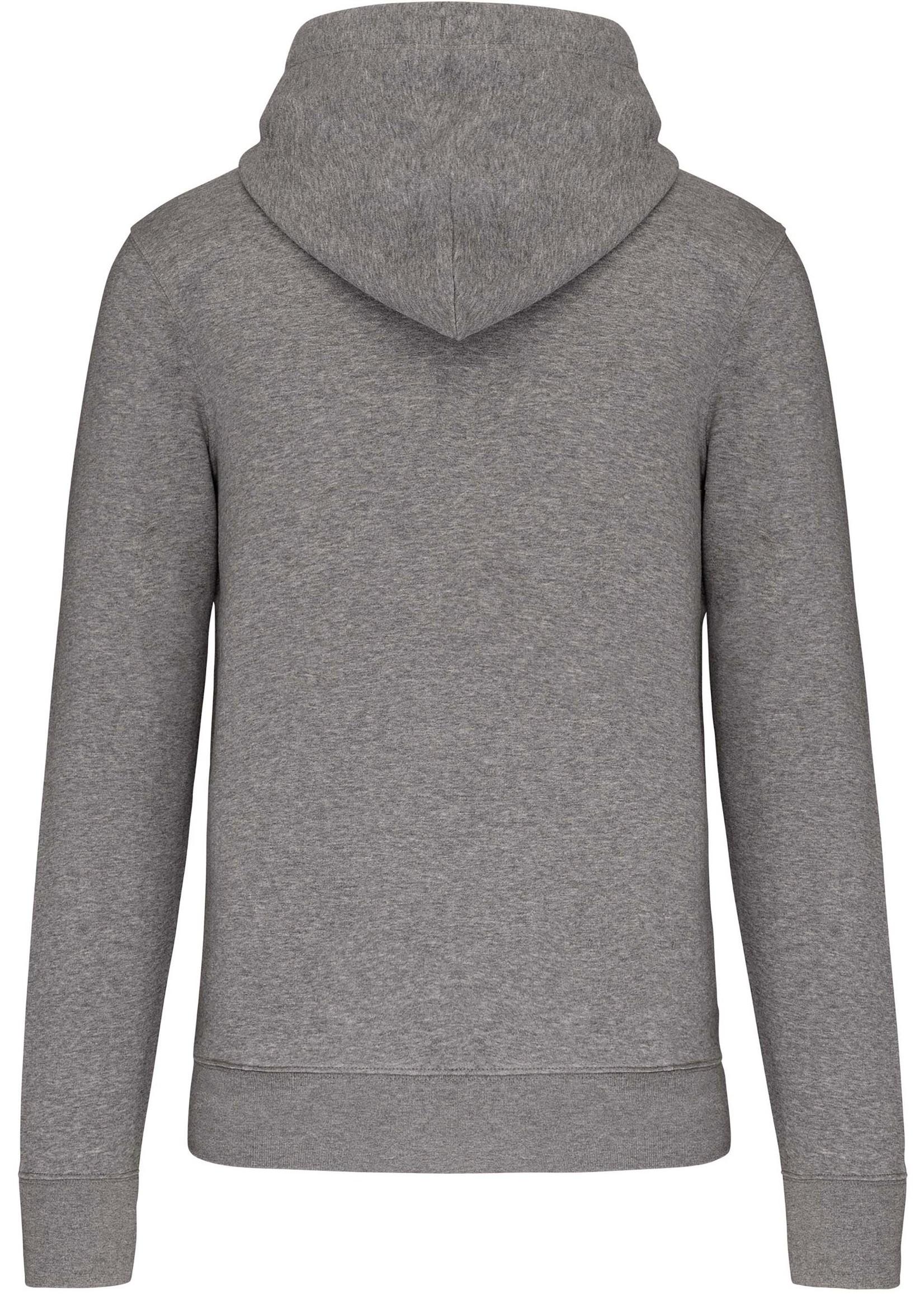 Eco-Friendly Hoodie Uni Grey-Gemêleerd