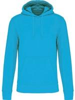 Eco-Friendly Hoodie Uni Sea-Turquoise