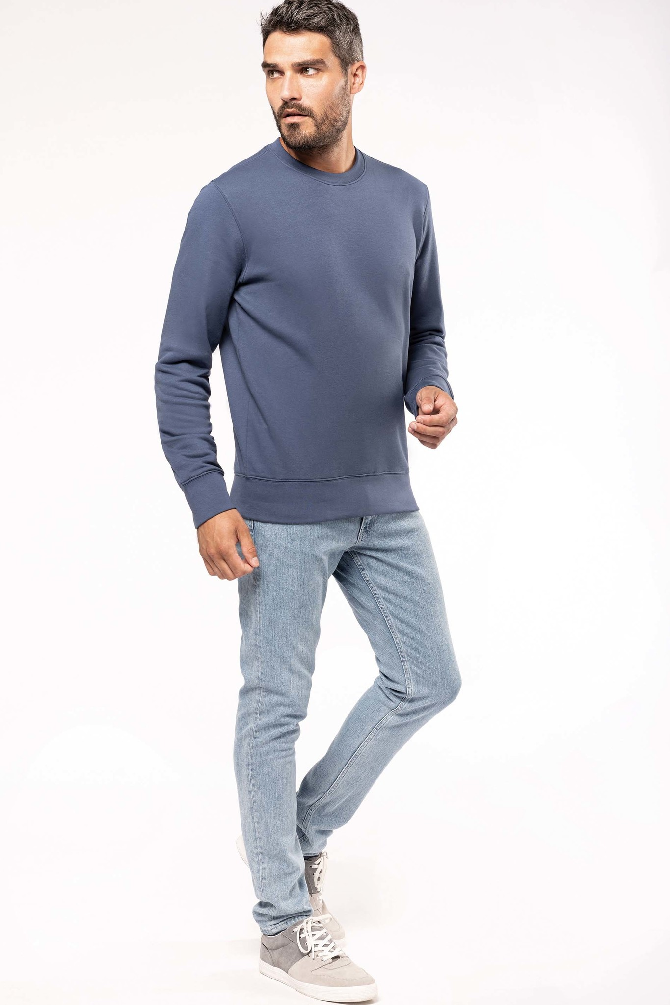 Eco-Friendly Sweater UNI Grey-Gemêleerd