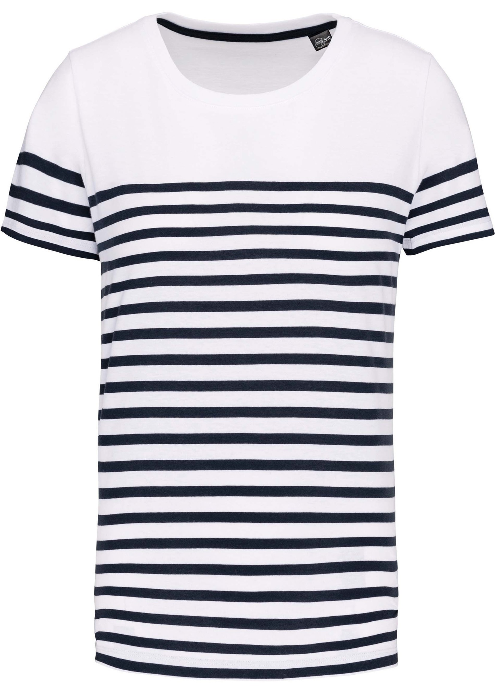Eco-Friendly  Marine-t-shirt KIDS Wit-Navy