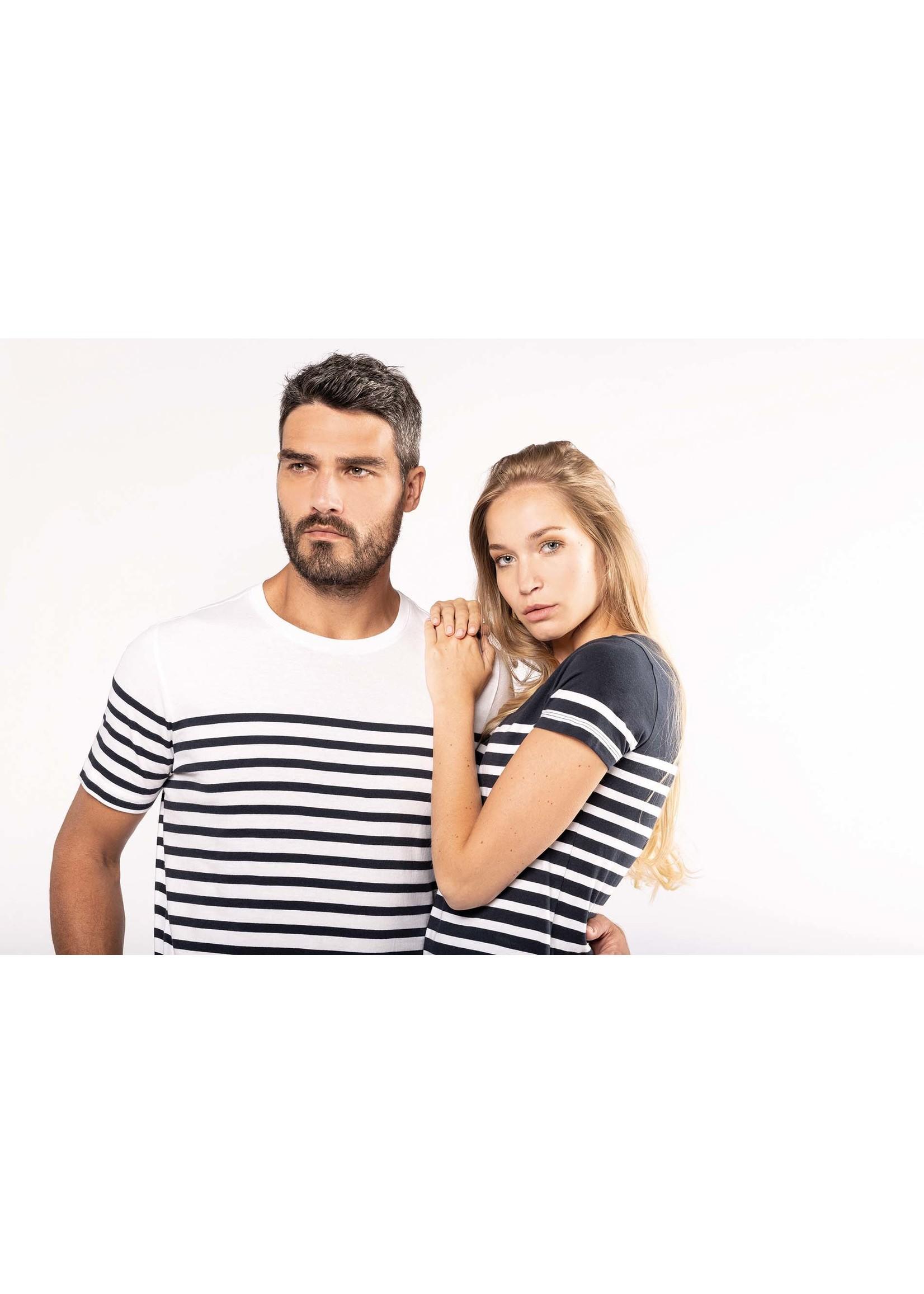Eco-Friendly  Marine-t-shirt HEREN  Navy-Wit