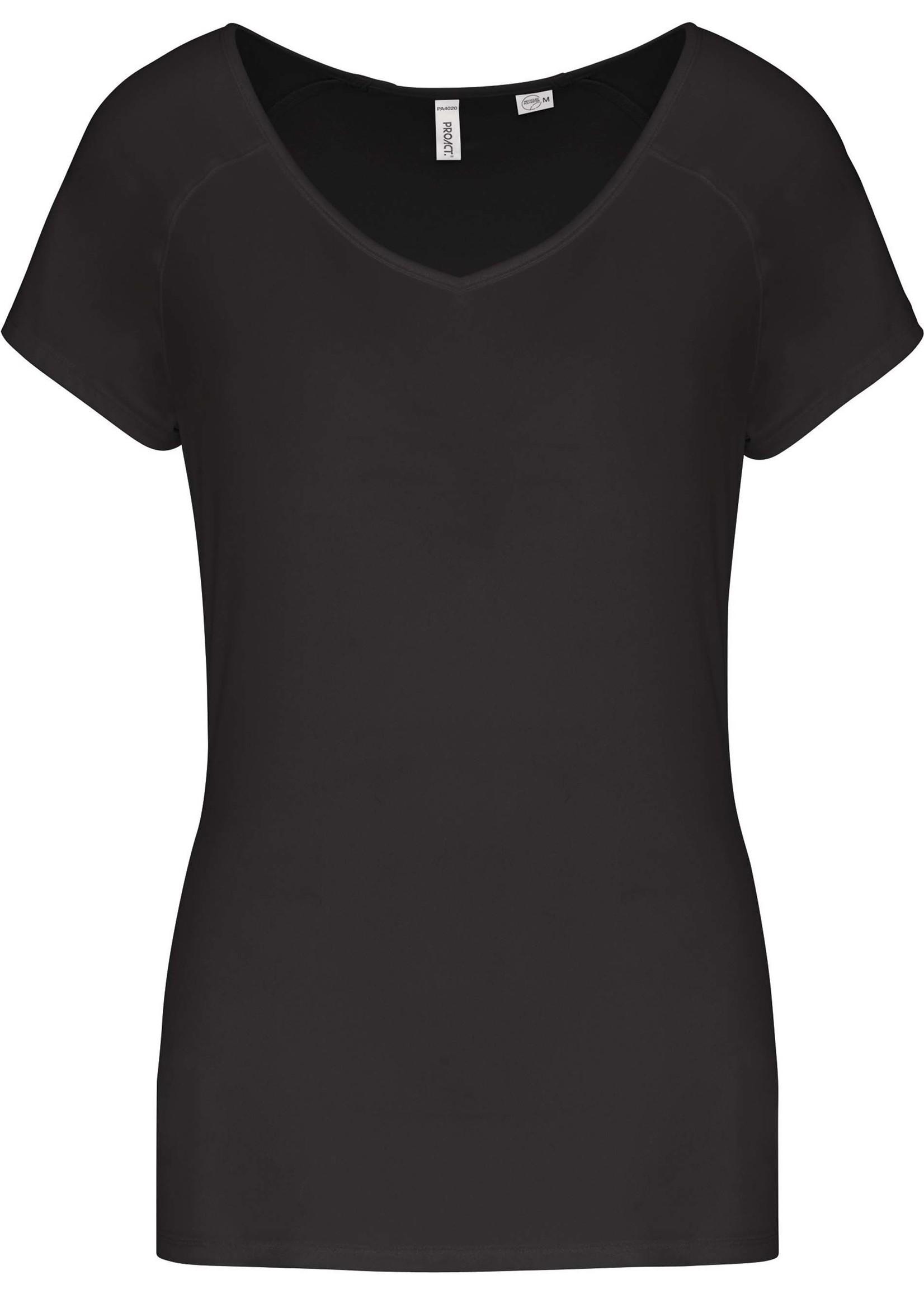 Eco-Friendly Sportshirt Sportiva Donna  Black