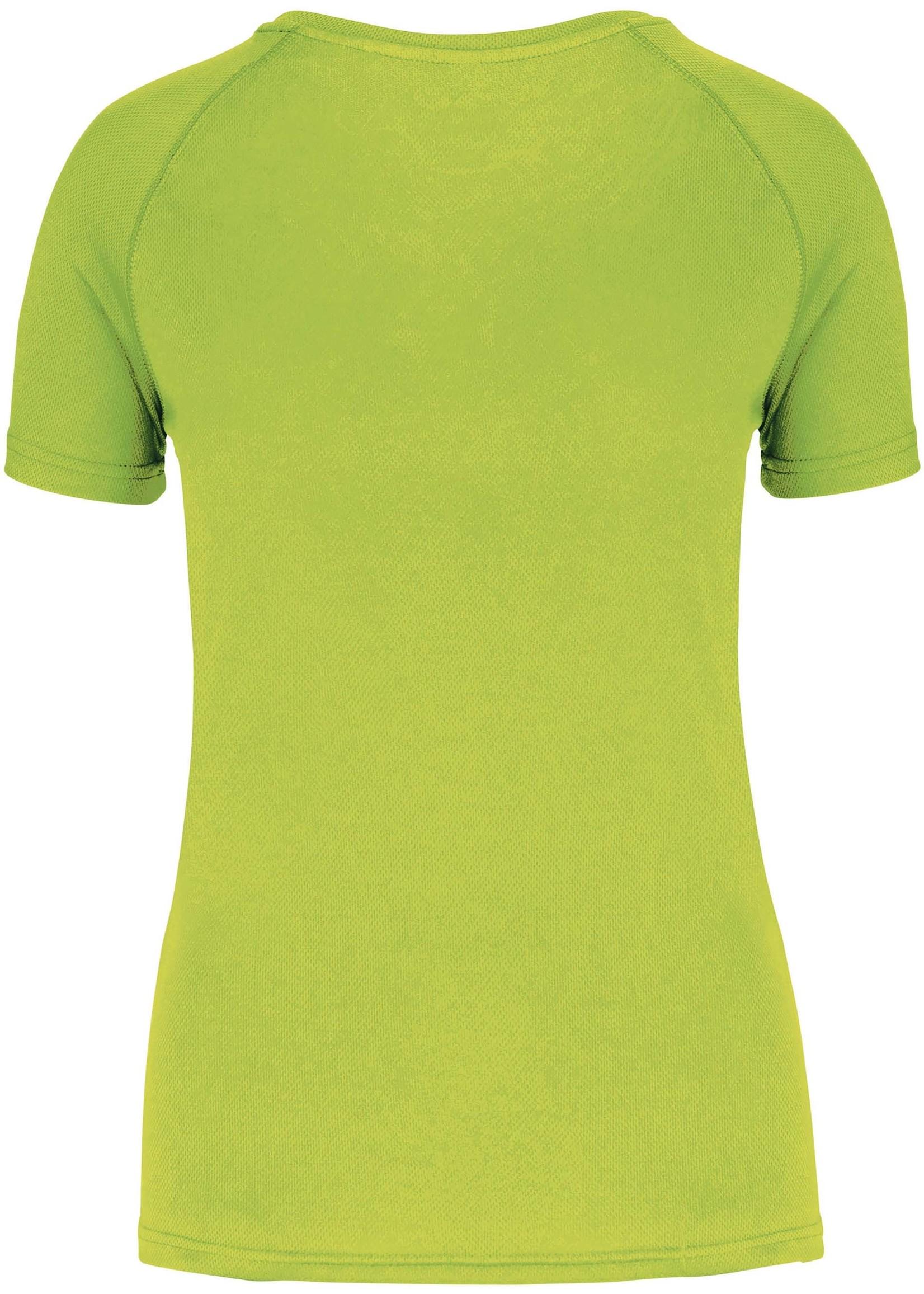 Gerecycled damessport-T-shirt met ronde hals-Lime