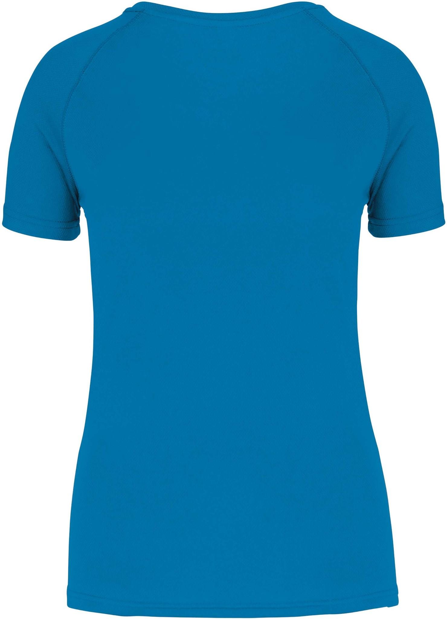 Gerecycled damessport-T-shirt met ronde hals-Aquablue