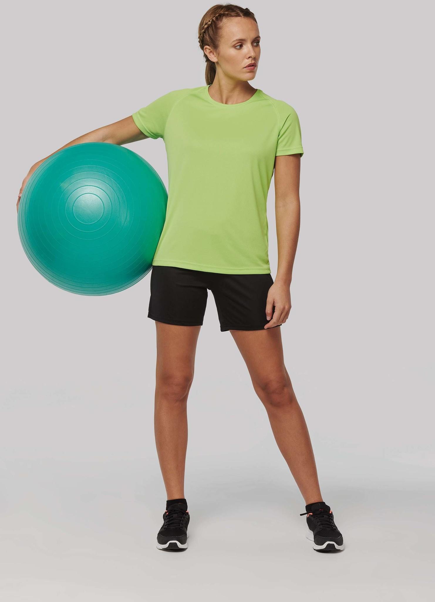 Gerecycled damessport-T-shirt met ronde hals-Navy