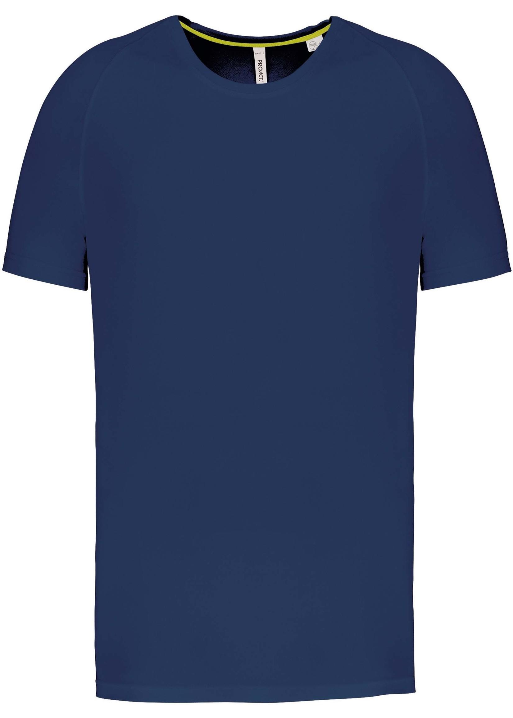 Gerecycled Herensport shirt met ronde hals-Navy