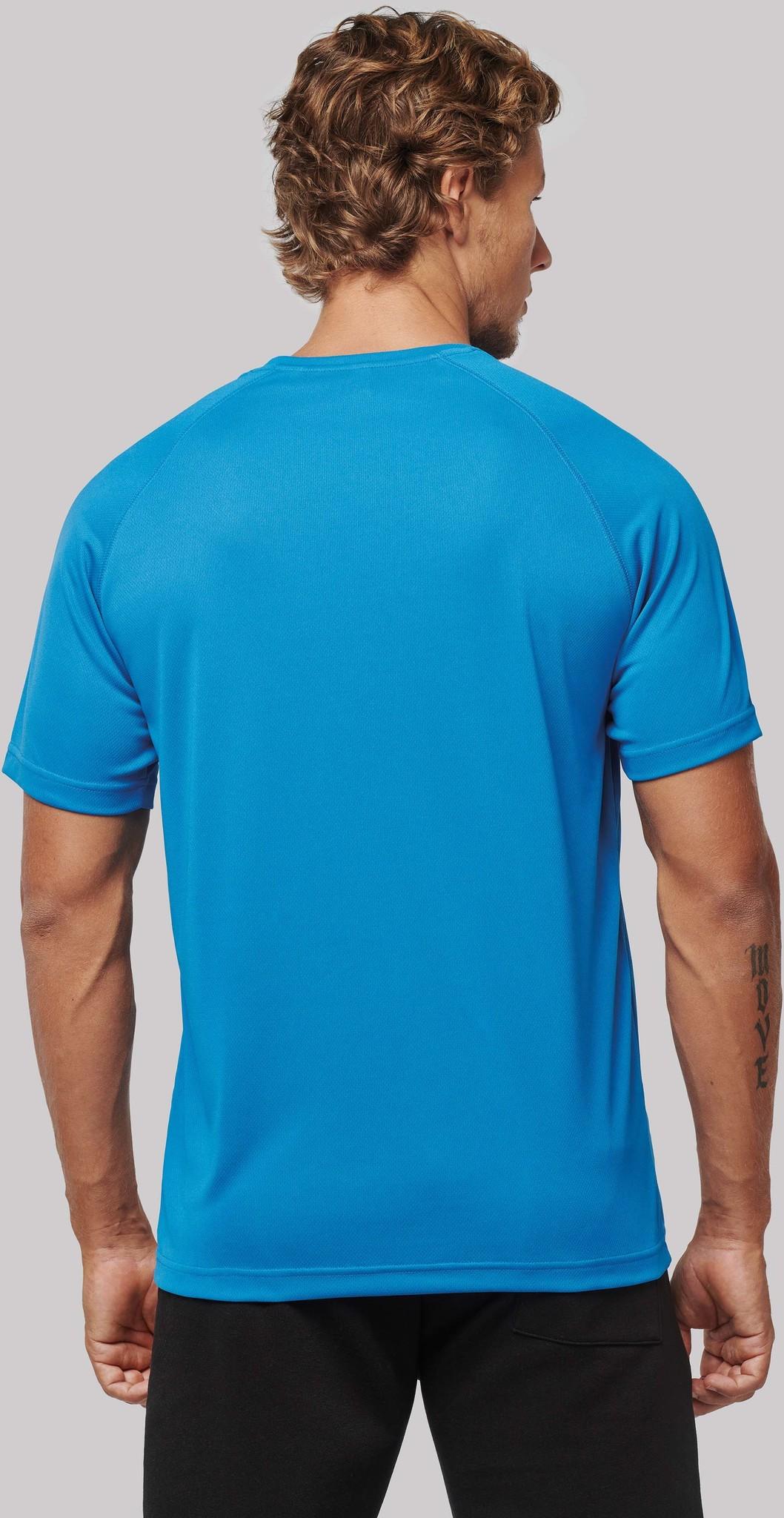 Gerecycled Herensport shirt met ronde hals-Lime