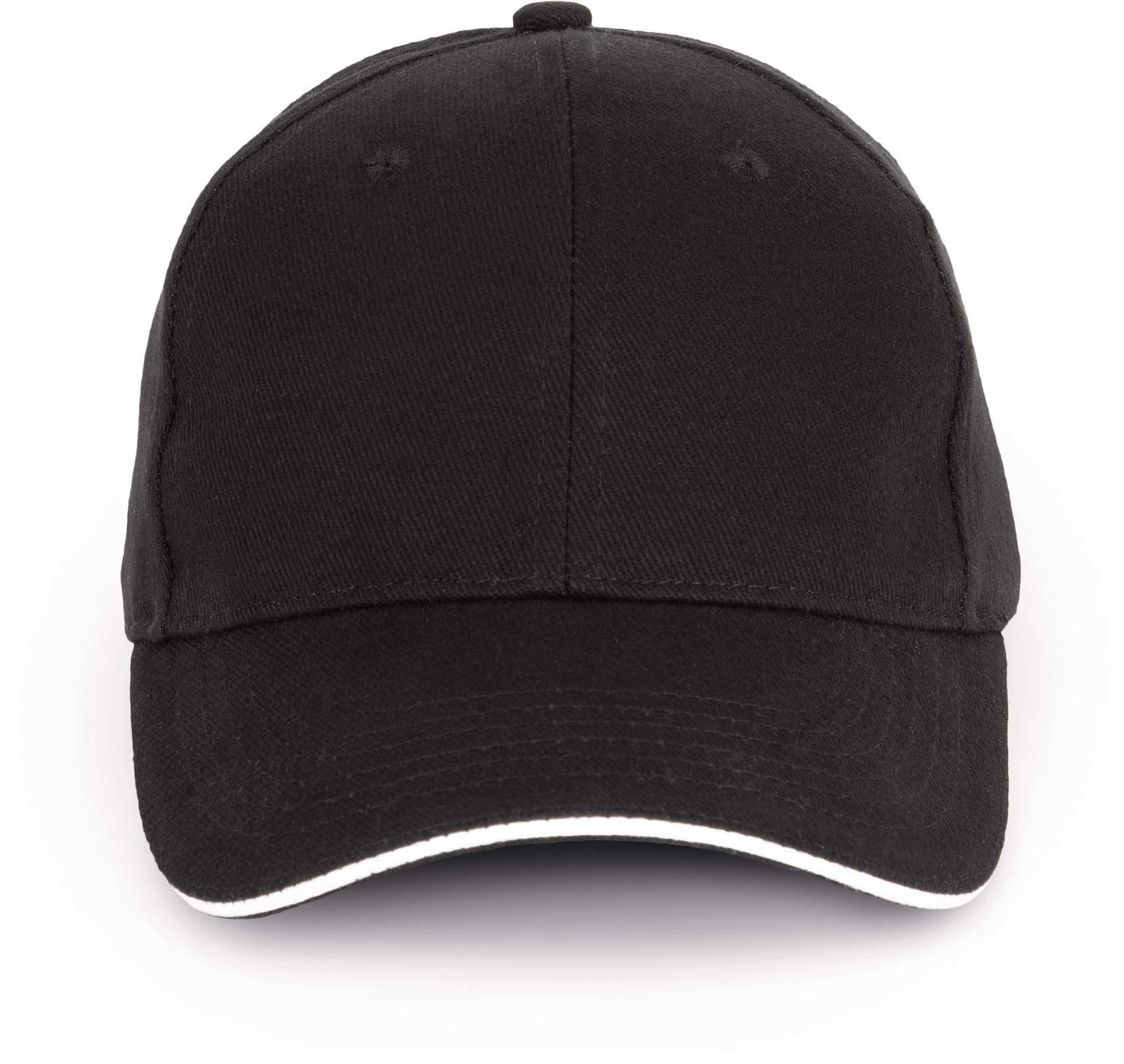 Cap van 100% Biokatoen kleur black-white