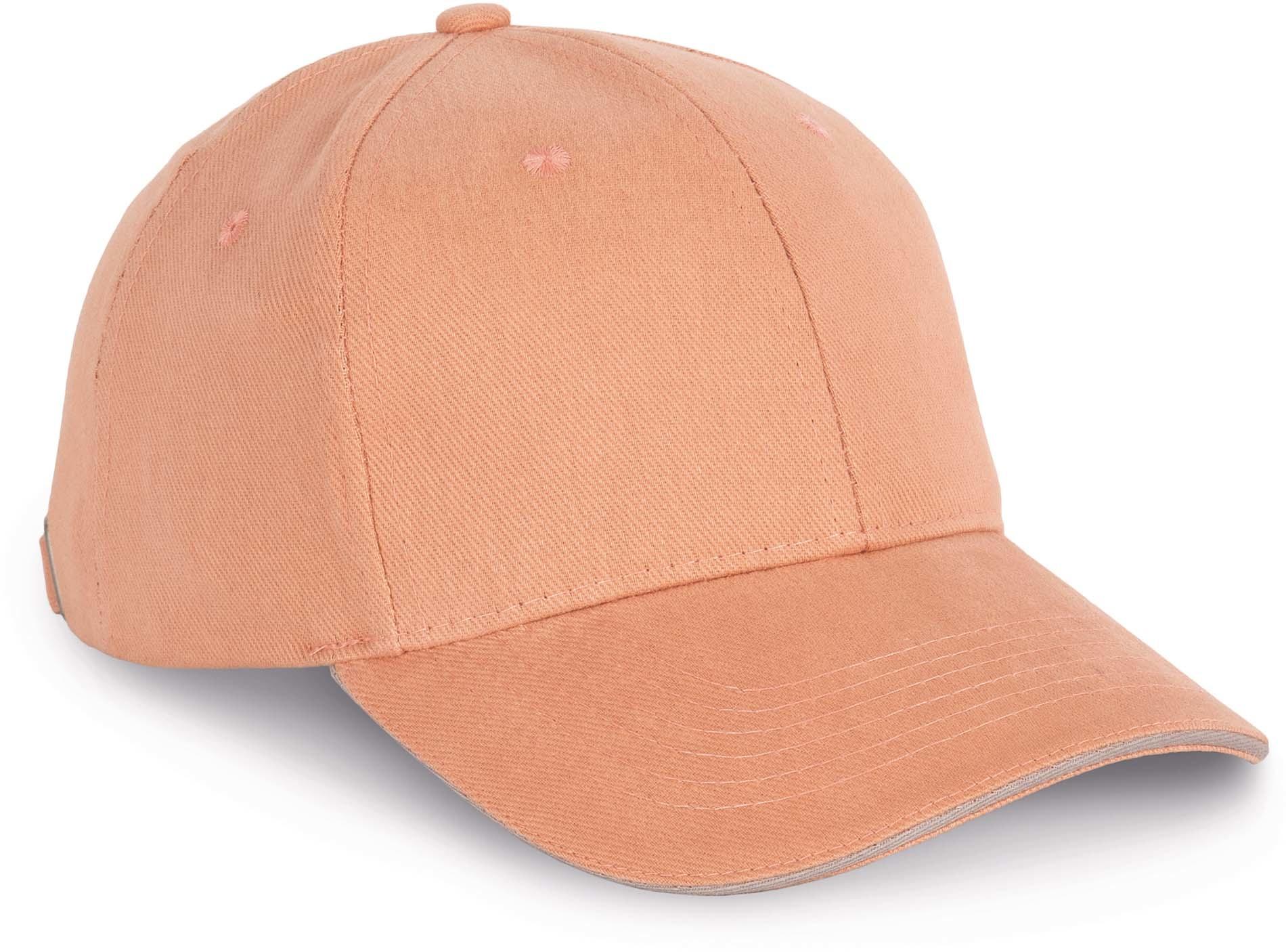 Cap van 100% Biokatoen kleur Greenfield-Ivory