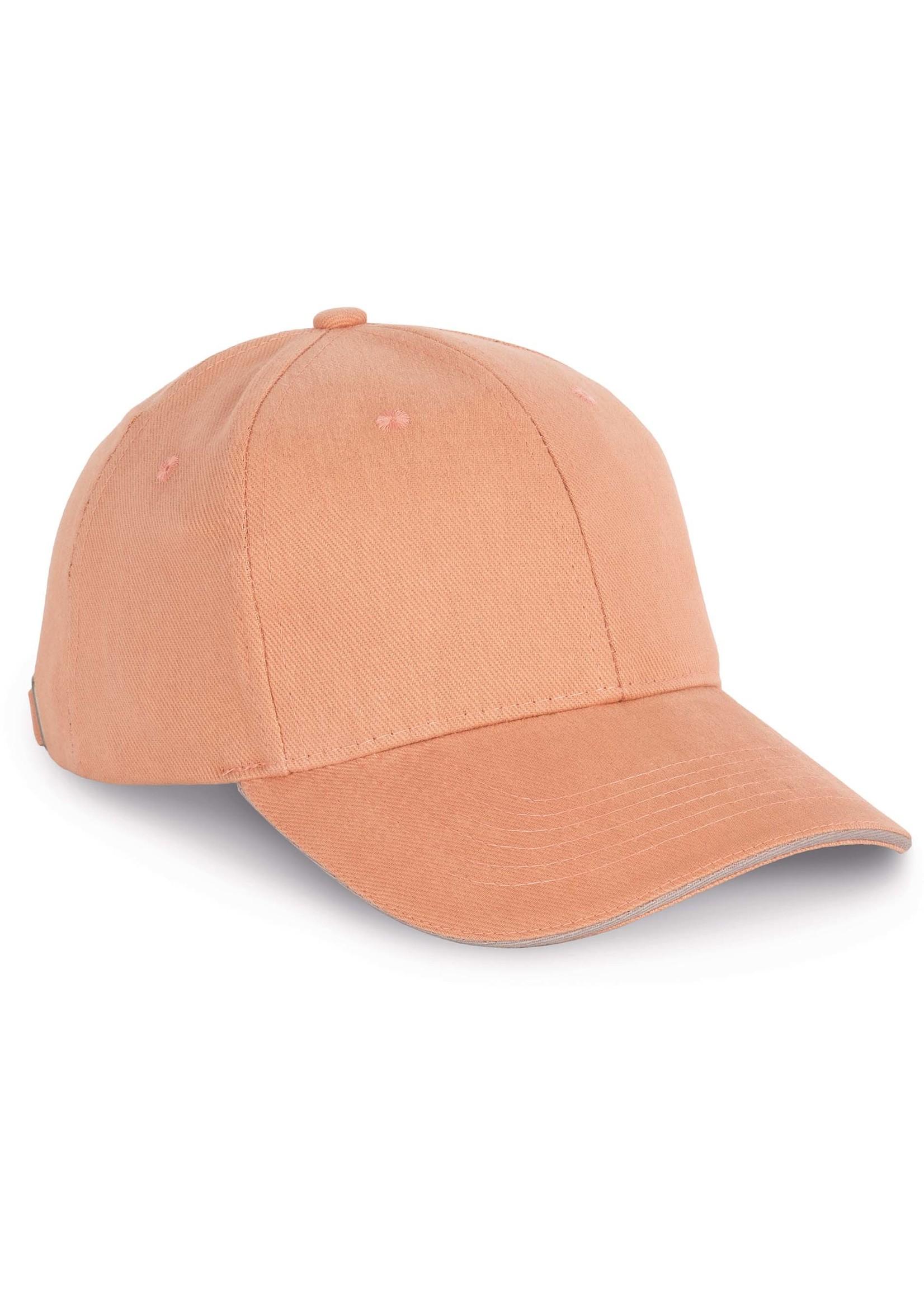 Cap van 100% Biokatoen kleur Wetsand-White