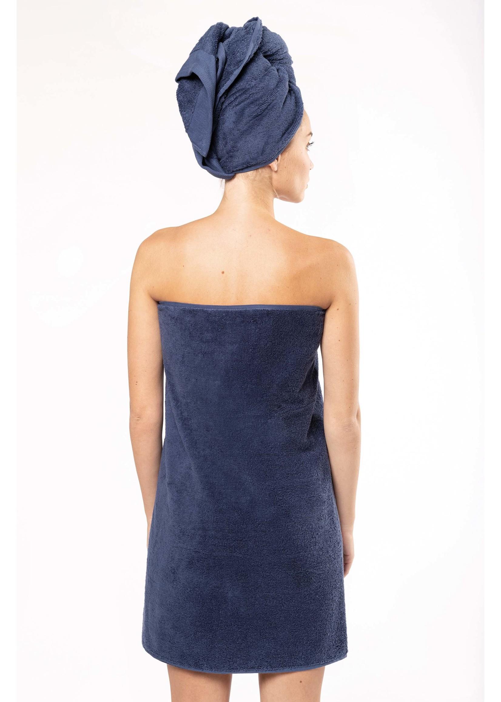 Eco-Friendly Handdoek 140 x 70 cm kleur: Sage, is te bedrukken