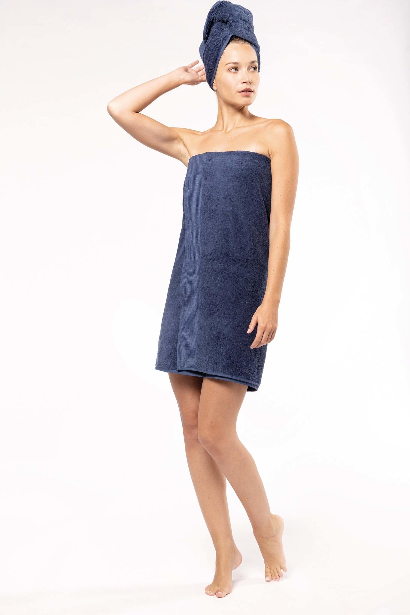 Eco-Friendly Handdoek 140 x 70 cm kleur: Linen, is te bedrukken