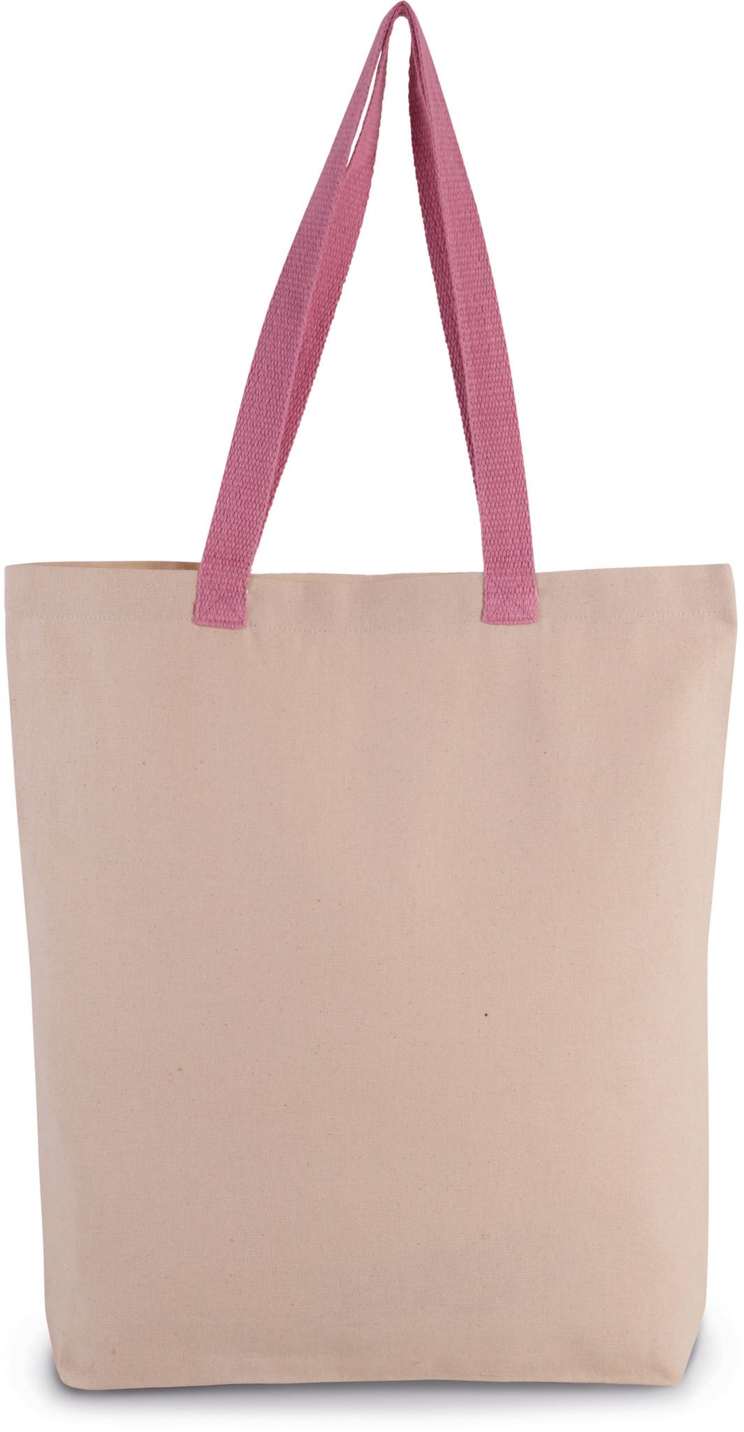 Eco-Friendly shopper kleur Natural-dark pink