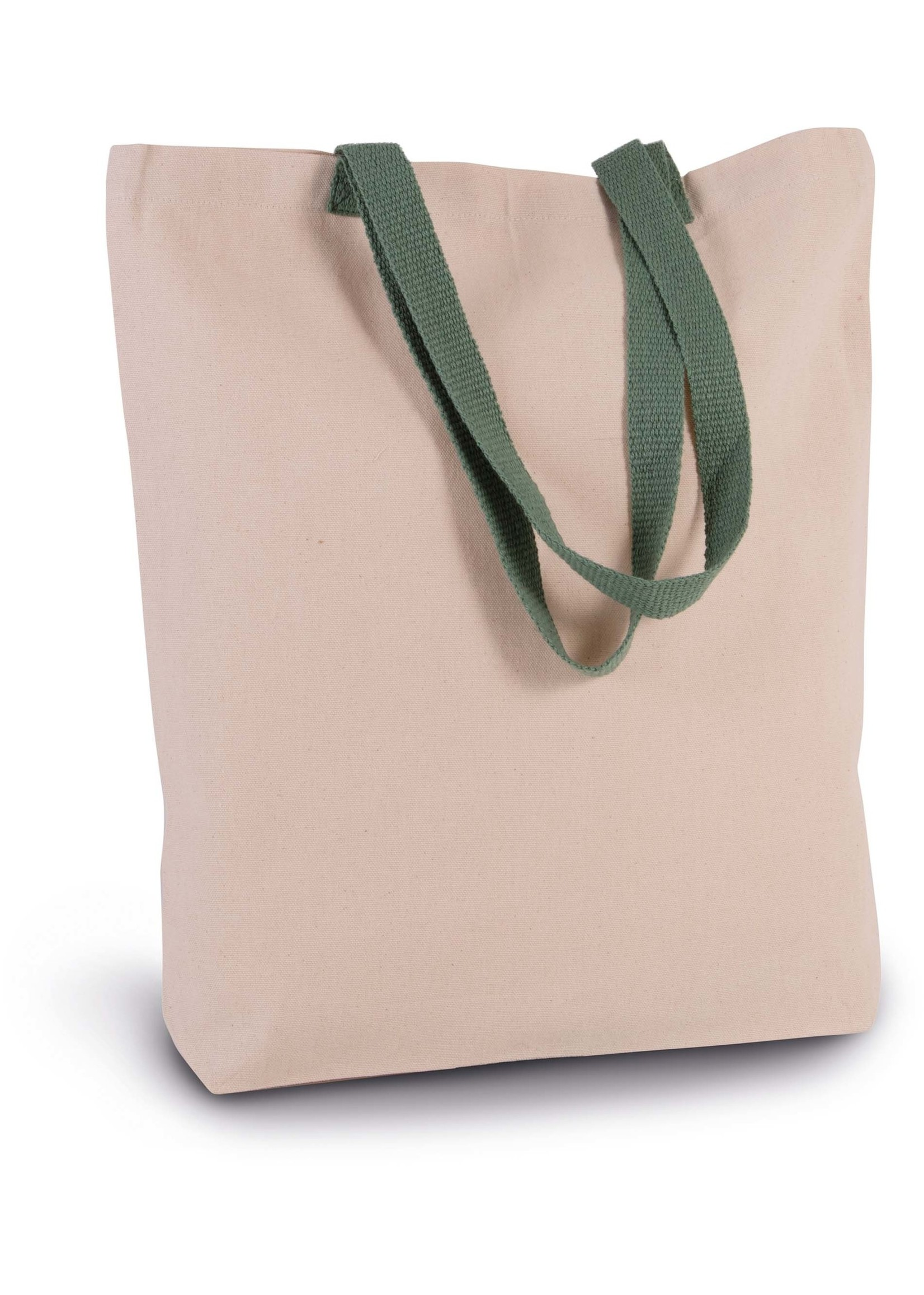 Eco-Friendly shopper kleur Natural-Kellygreen