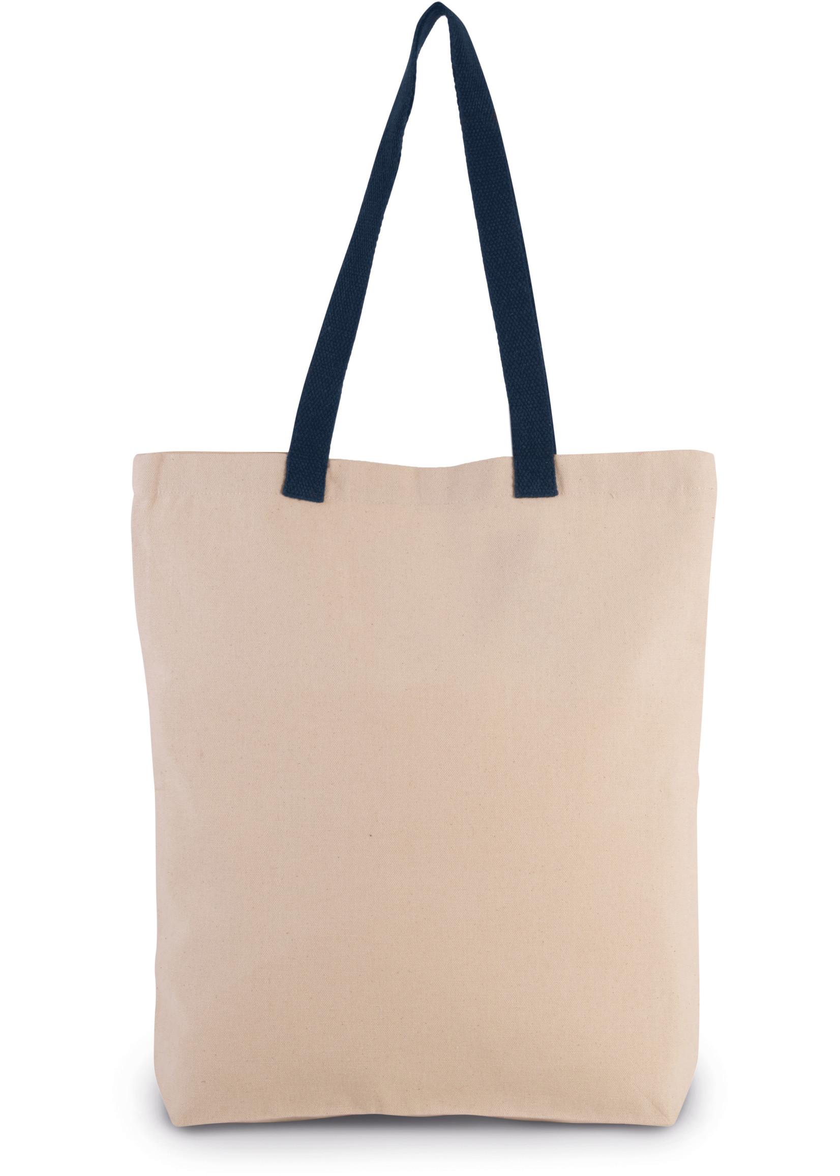 Eco-Friendly shopper kleur Natural-navy