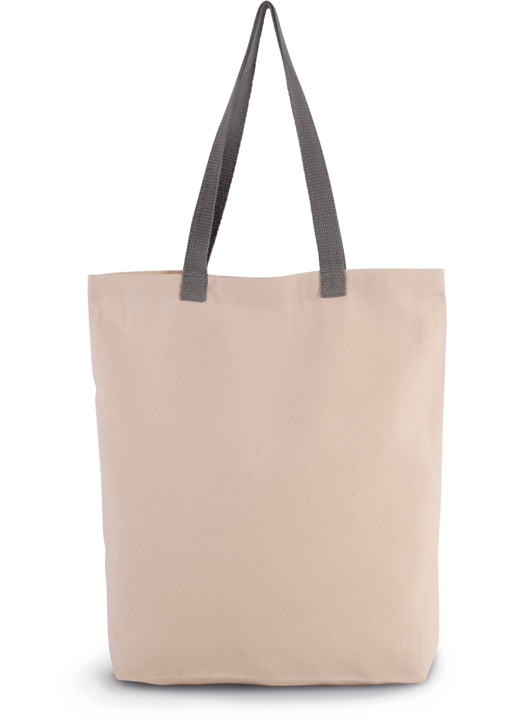 Eco-Friendly shopper kleur Natural-Steel Grey