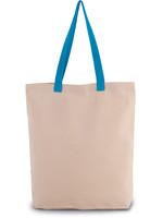 Eco-Friendly shopper kleur Natural-Surfblue