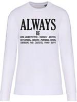 Eco-Friendly Sweater UNI White ALWAYS