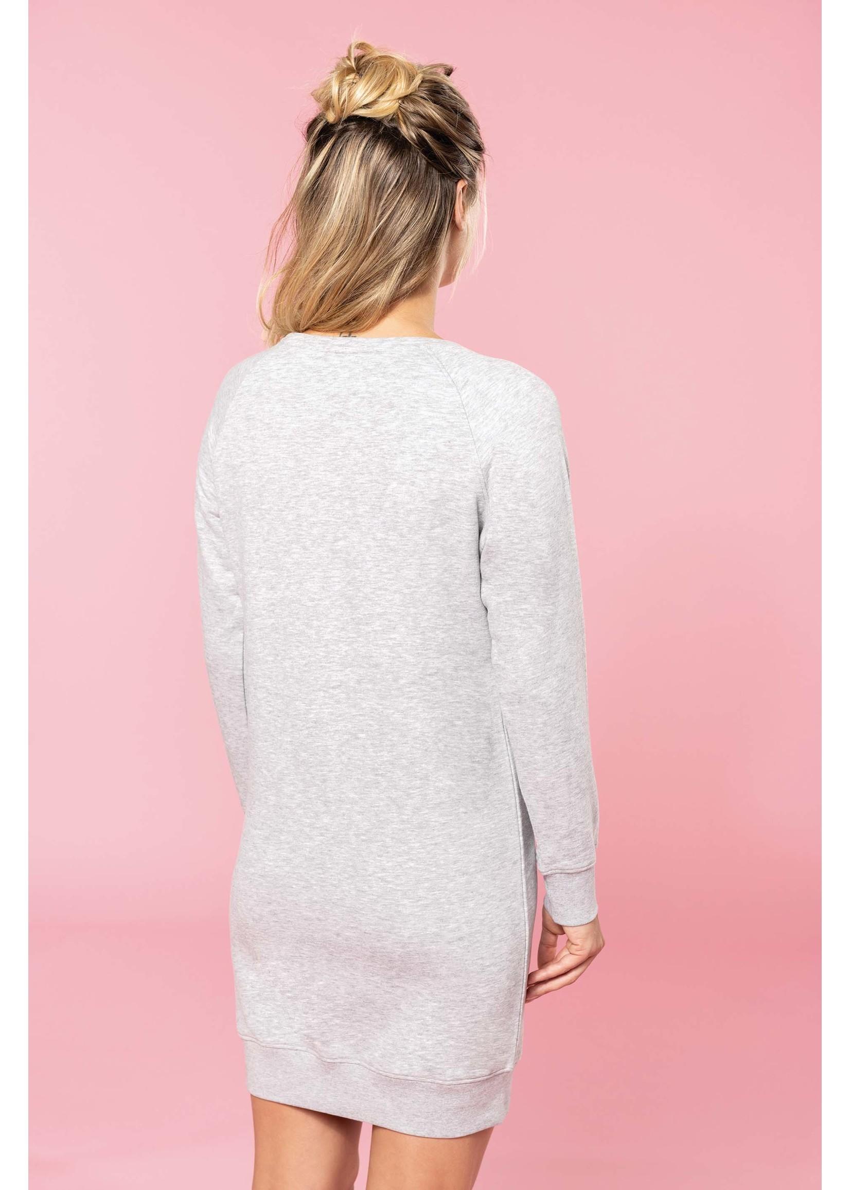 Lounge jurk Bio in fleece Lightgrey-Heather