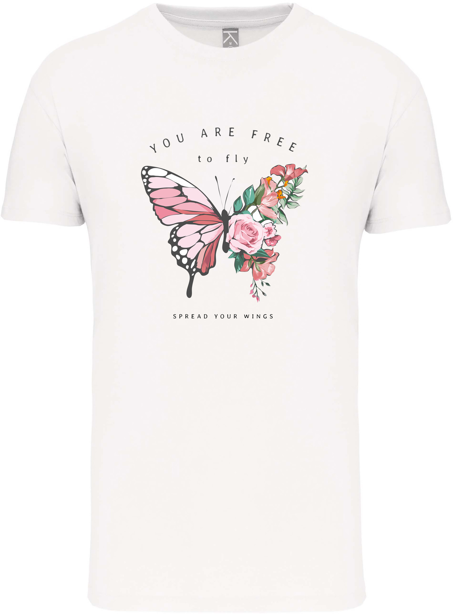 Bio-katoen T-shirt met opdruk in UNI model │Free to Fly