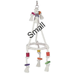 Nobby Pyramid Cotton ring with wood (3 sizes)