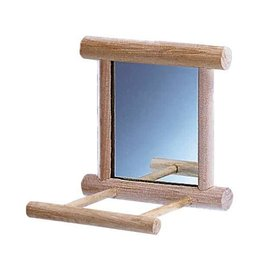 Nobby Spiegel in hout met landing plaats