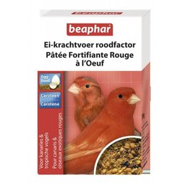 Beaphar Pâtée Fortifiante Rouge à l'Oeuf pour canaris et oiseaux exotiques rouges (150 gr)