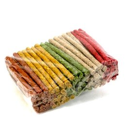 Voskes Munchy Stick 12,5 cm (Mix 5 kleuren (10 mm) 100 stuks)