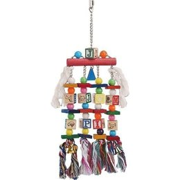 Nobby Parrot toy wood and rope (2)